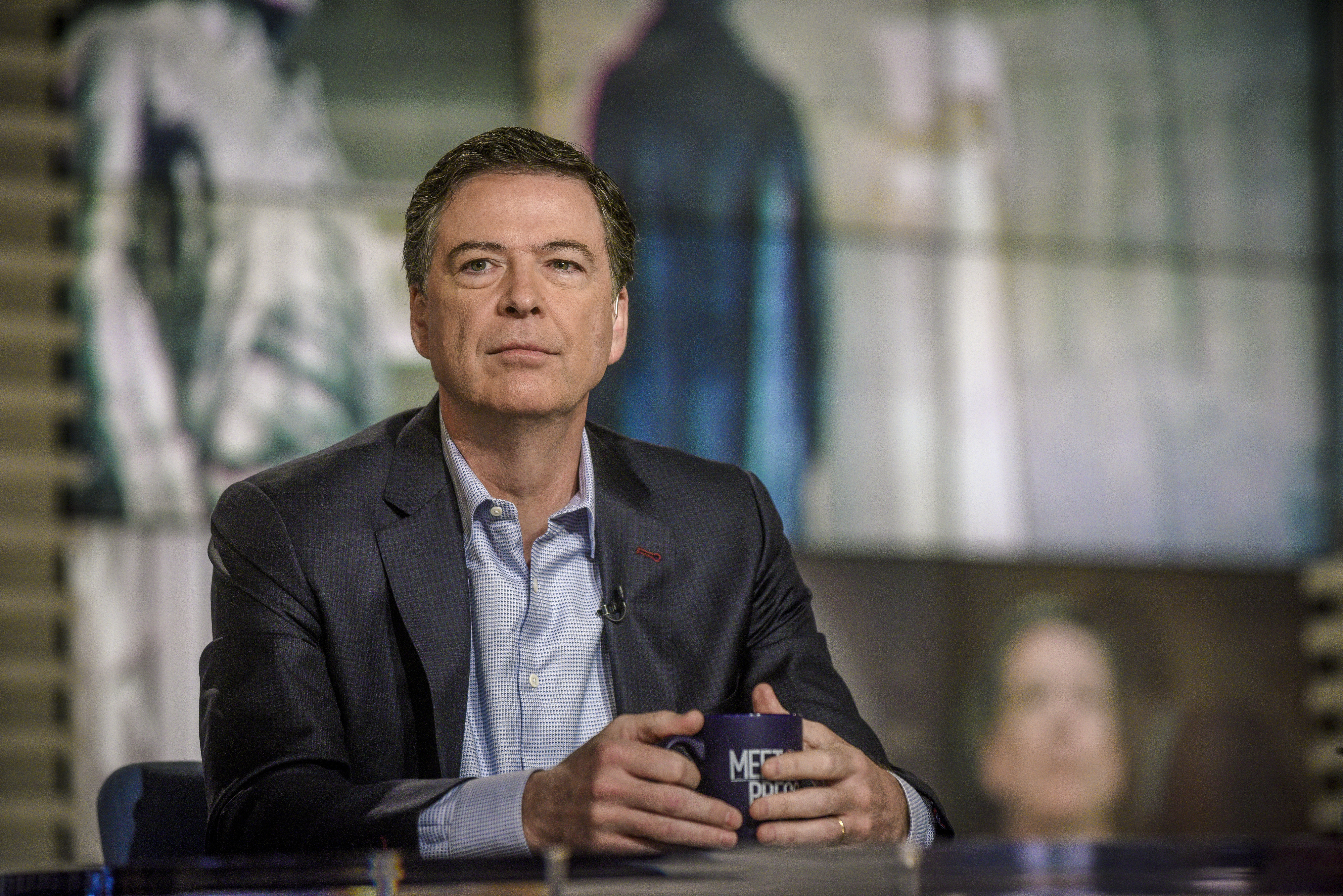 James Comey, Former FBI Director, appears on  Meet the Press  in Washington, D.C., Sunday, April 29, 2018.