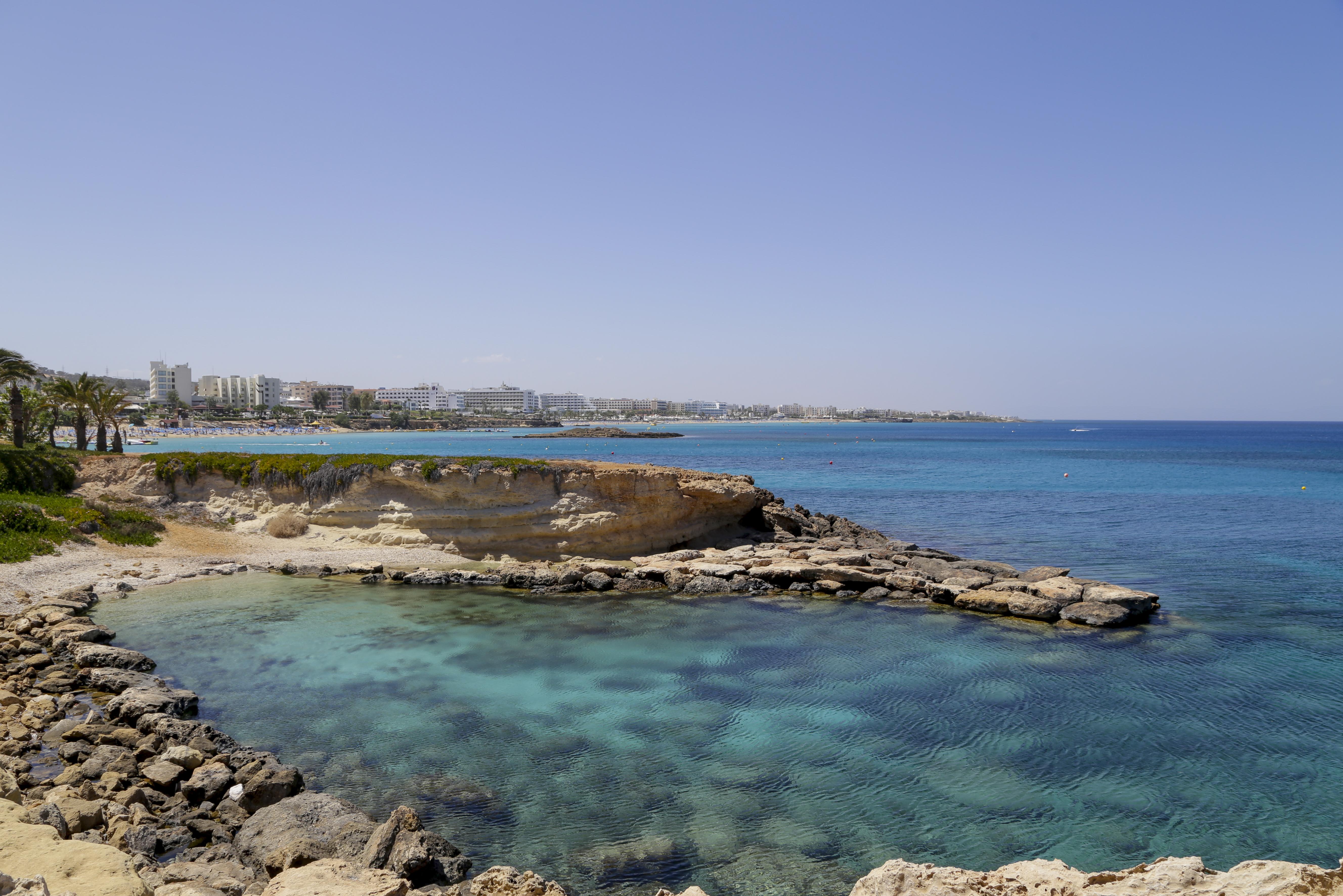 PROTARAS, CYPRUS - APRIL 27: Fig Tree Beach on April 27, 2016 in Protaras, Cyprus.