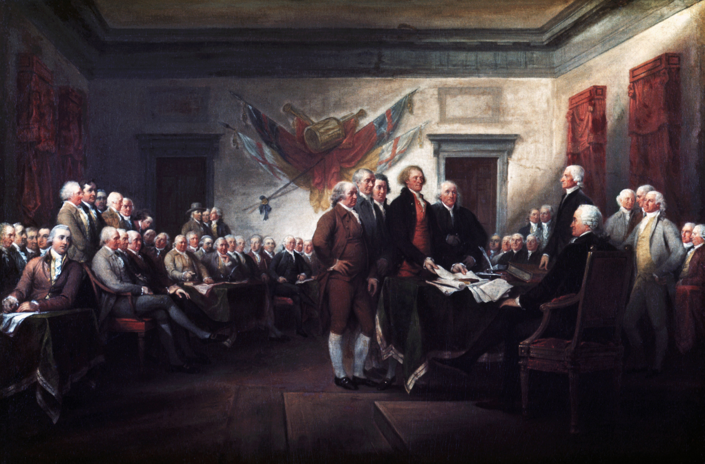 John Trumbull's The Declaration of Independence, July 4, 1776, commissioned in 1817.