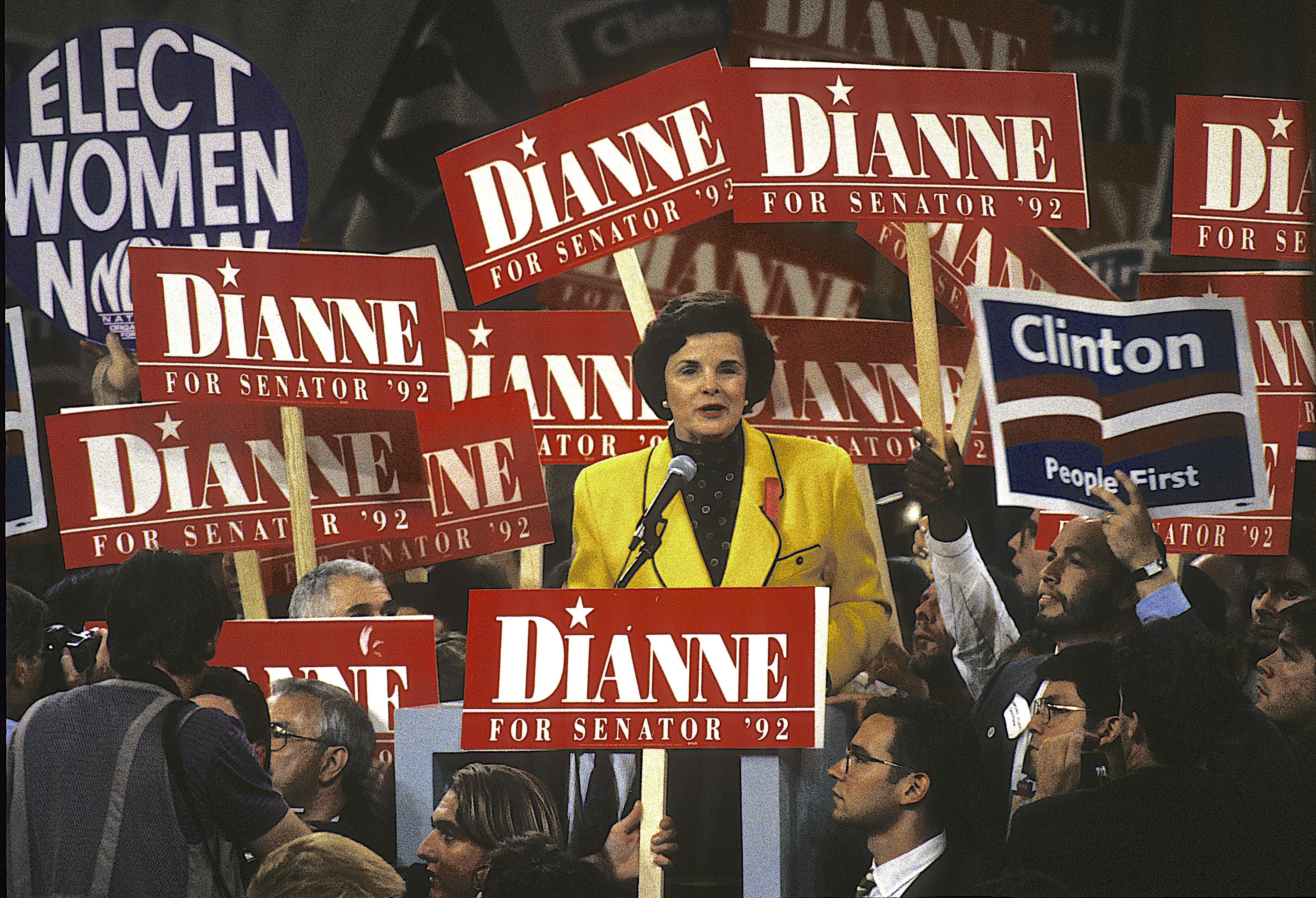Dianne Feinstein, the Mayor of San Francisco, addresses the Democratic National Convention in 1992.