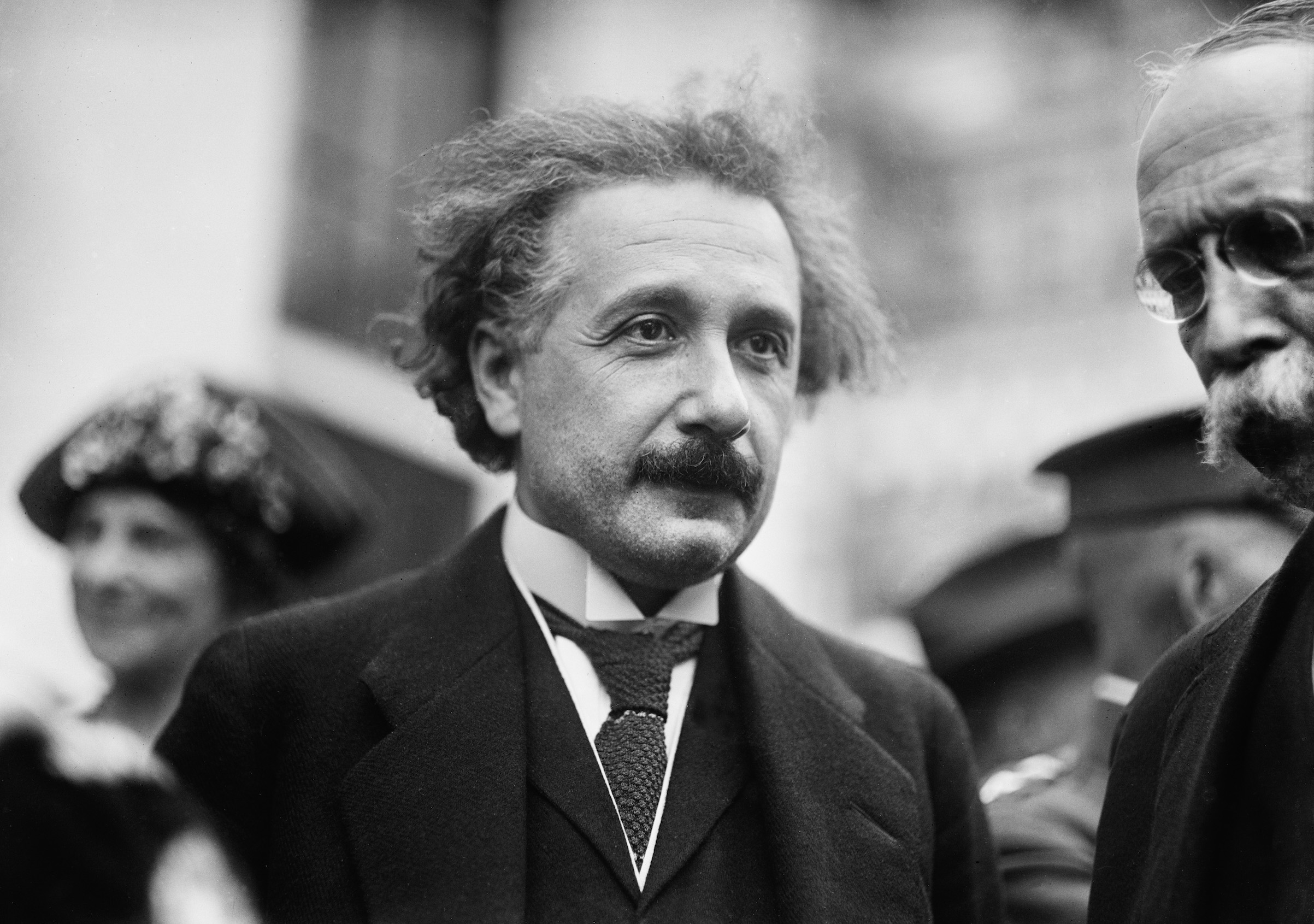 Albert Einstein, while visiting the White House in Washington, D.C., in the early 1920s.