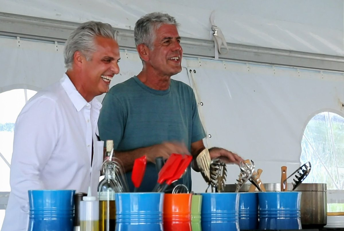 Eric Ripert posted this photo with Anthony Bourdain and described him as  my friend friend
