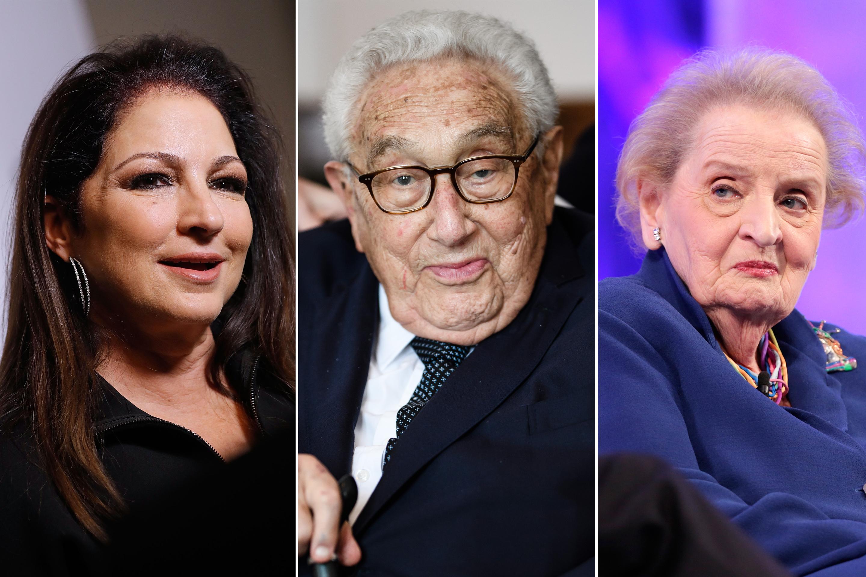 From left: Gloria Estefan, Henry Kissinger, Madeline Albright.