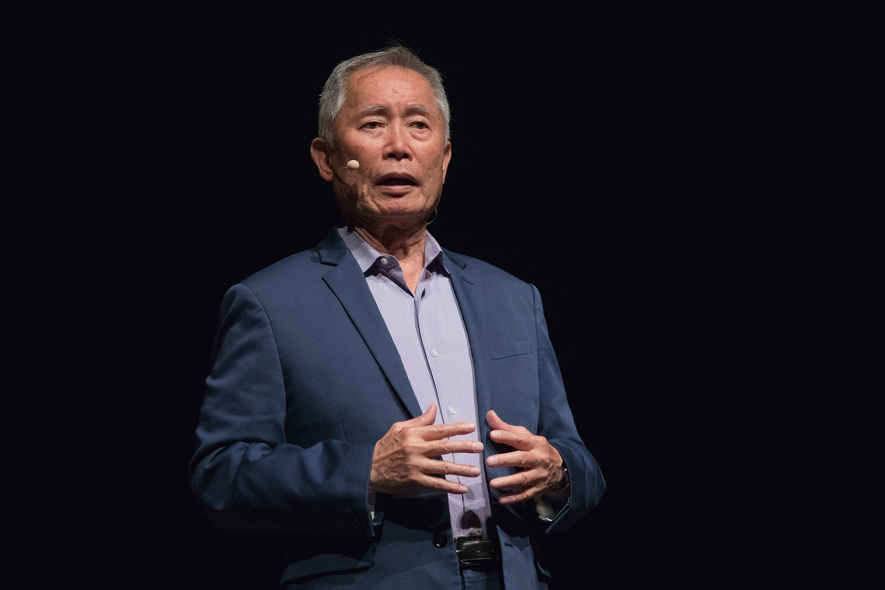 Actor George Takei speaks onstage during 'An Evening with George Takei' at the Long Center on May 4, 2018 in Austin, Texas.