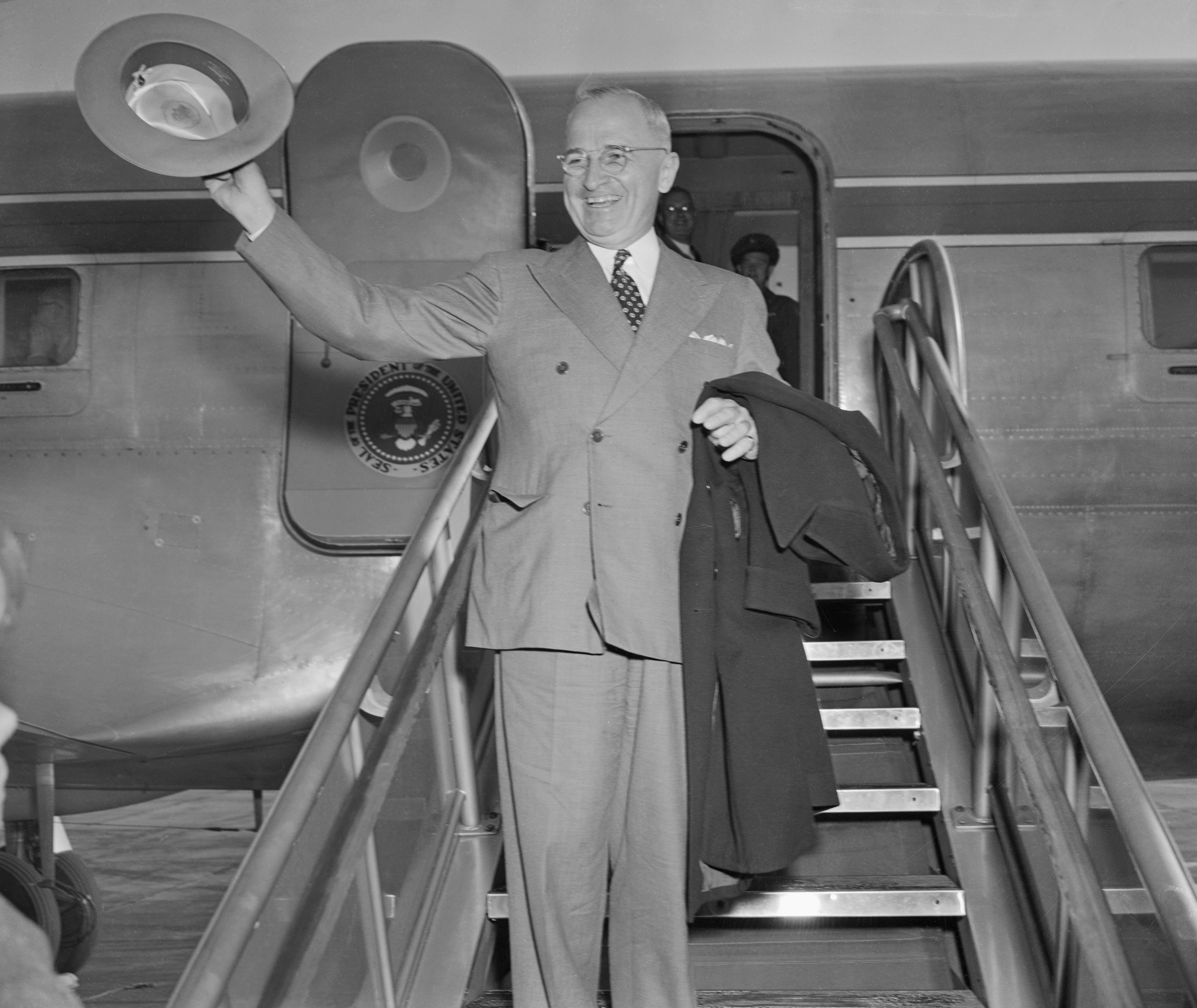President Truman at Washington National Airport in 1948.