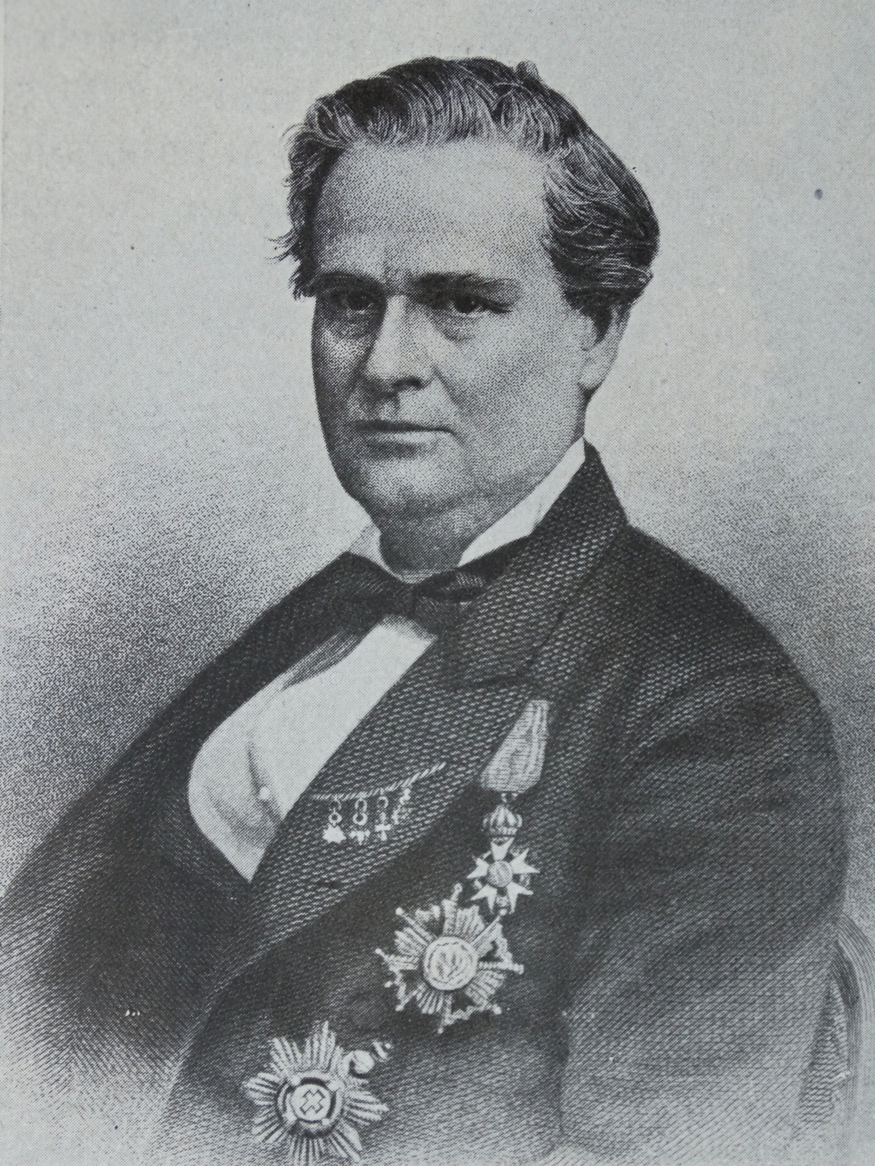 Portrait of J. Marion Sims, born James Marion Sims, a physician considered by some as the father of modern gynecology.