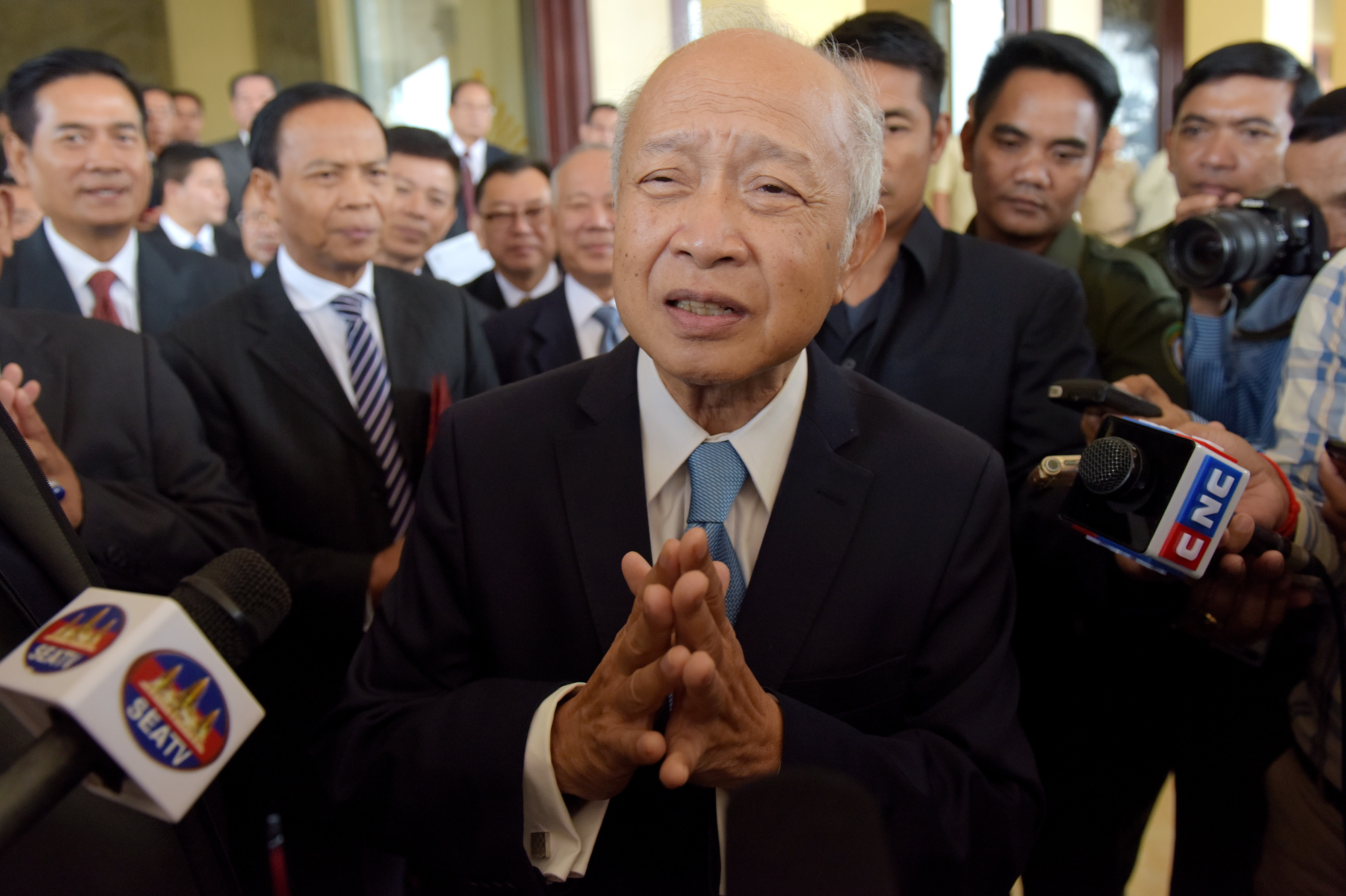 Cambodia's Prince Norodom Ranariddh at the National Assembly building in Phnom Penh on Nov. 27, 2017.
