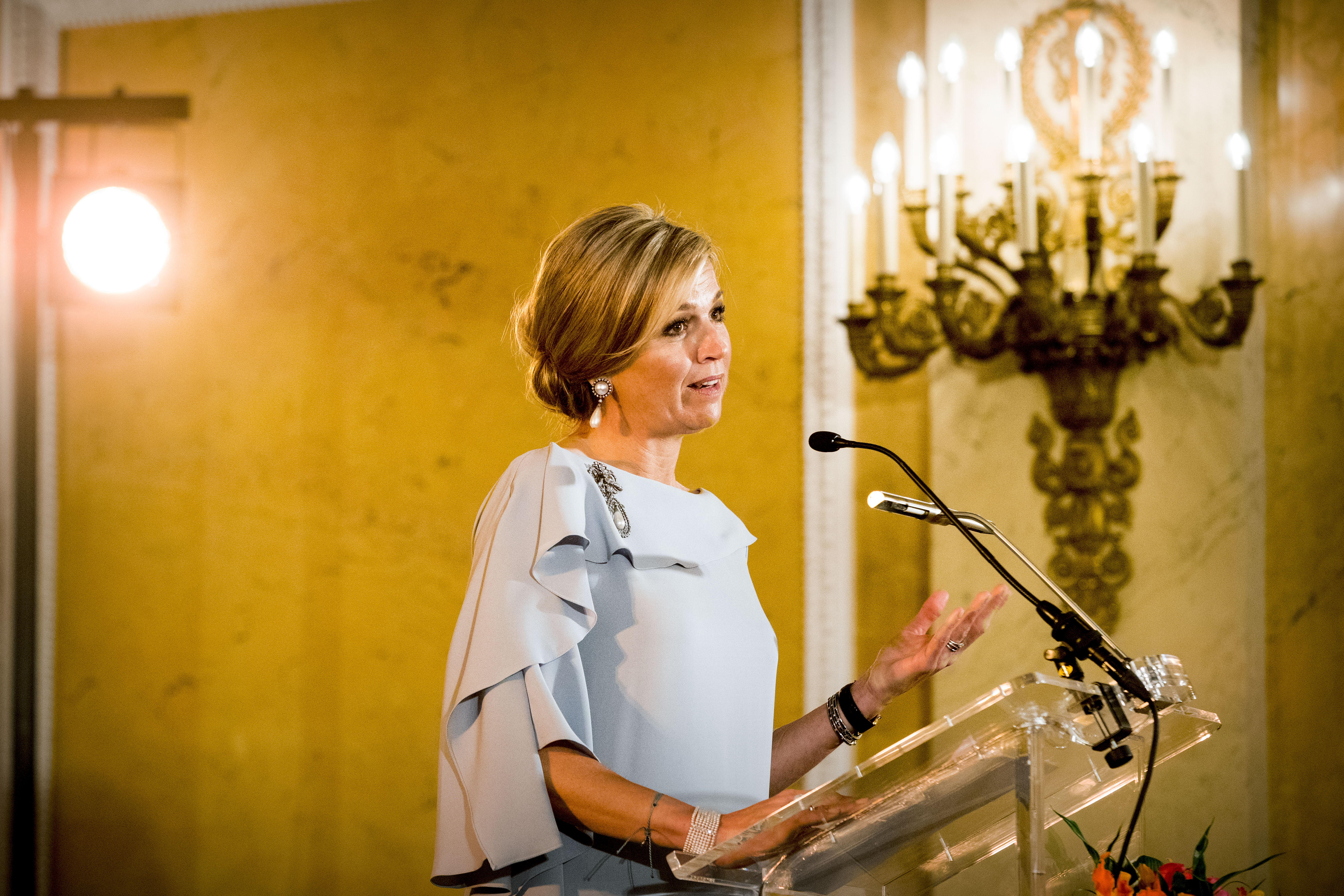 Queen Maxima of The Netherlands during the award ceremony of the Appeltjes van Oranje for social projects in The Hague, Netherlands on June 6, 2018.