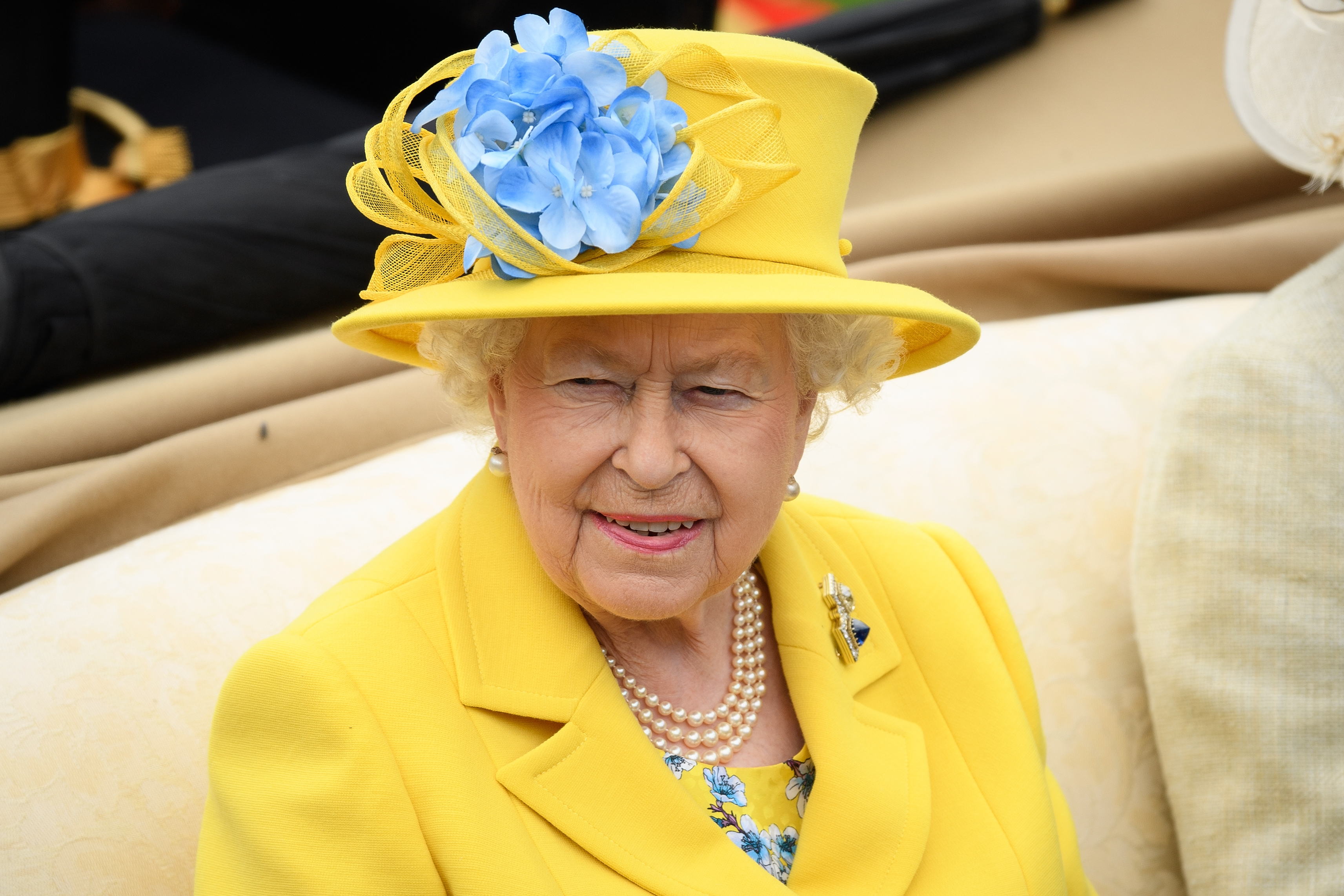 Britain's Queen Elizabeth II attends day one of Royal Ascot at Ascot Racecourse in Ascot, United Kingdom on June 19, 2018.