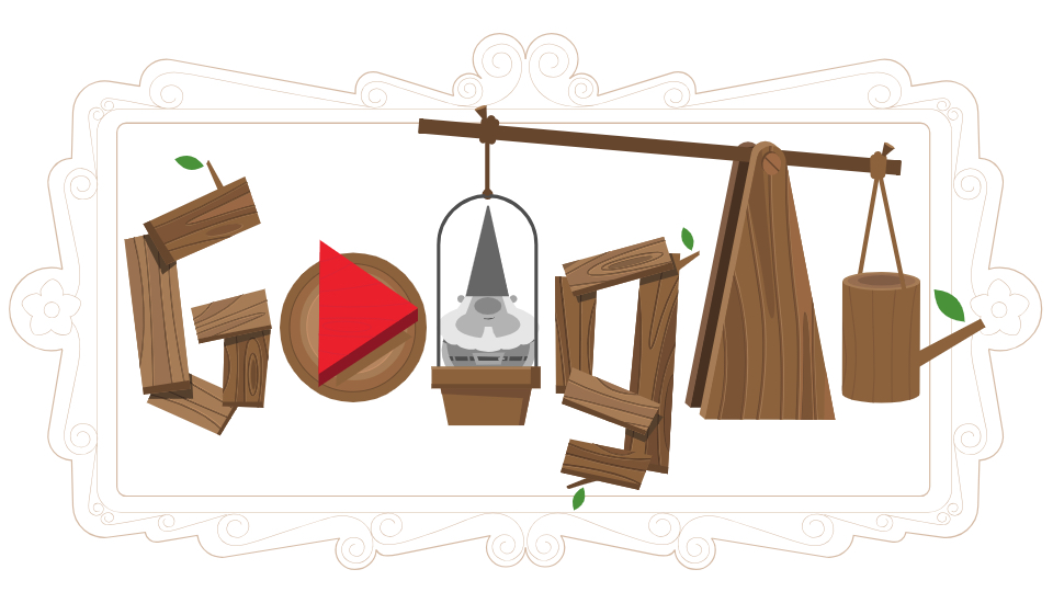 Google Doodle celebrated Germany's Garden Day with a fun playable gnome-tossing game