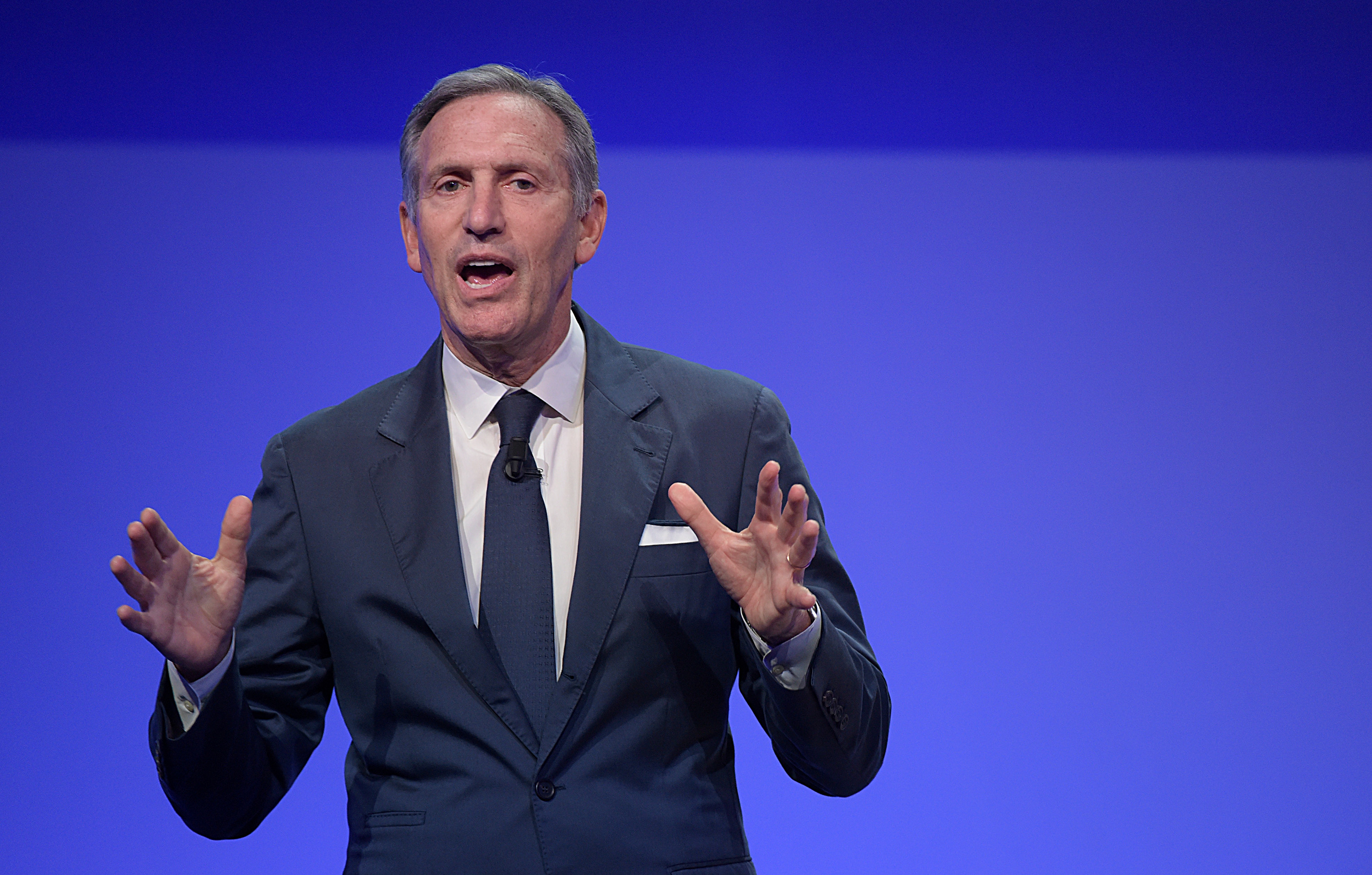 Howard Schultz,  Executive Chairman of Starbucks speaks during Seeds & Chips Summit on May 7, 2018 in Milan, Italy.