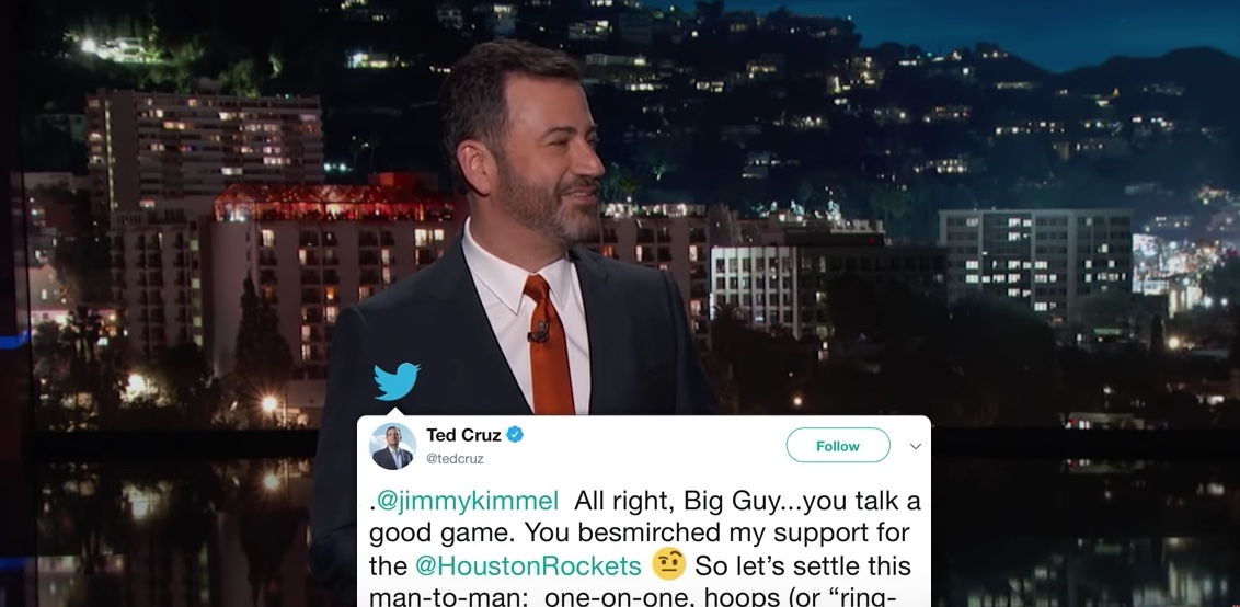 The Jimmy Kimmel and Ted Cruz feud continues.