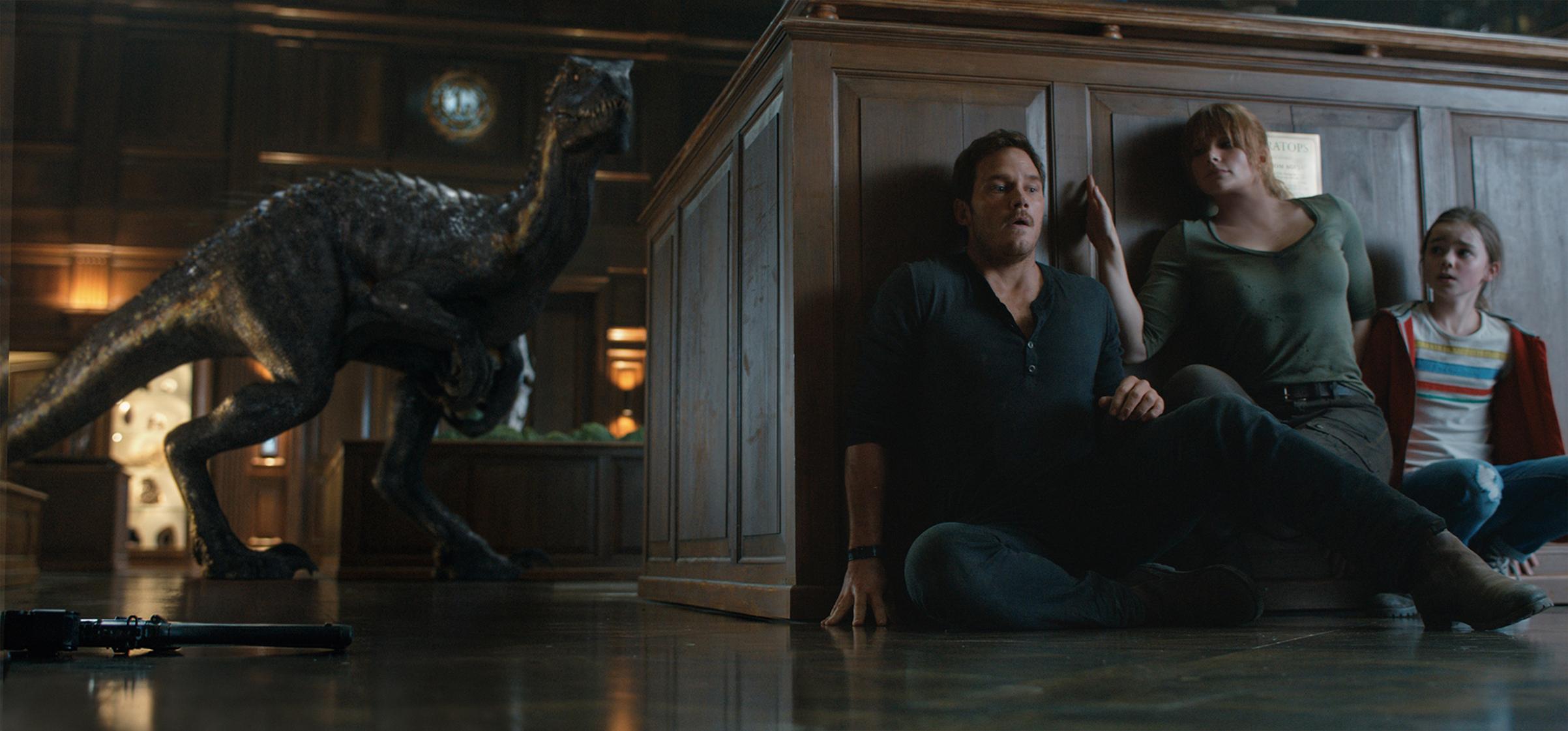 Chris Pratt, Bryce Dallas Howard and Isabella Sermon: when dinosaurs roamed the hallways
