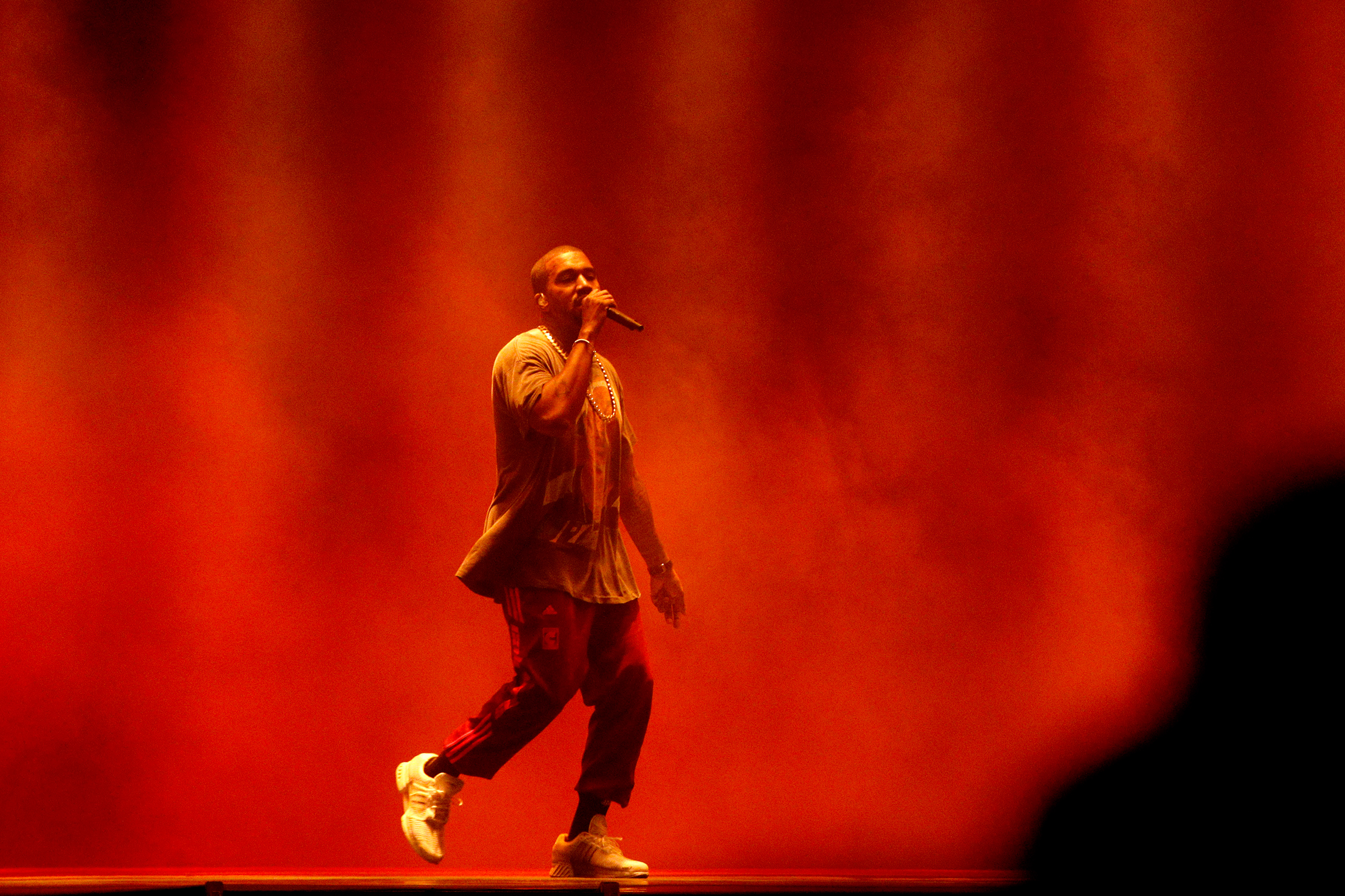 Kanye West performs onstage during The Meadows Music & Arts Festival on Oct. 2, 2016 in New York.