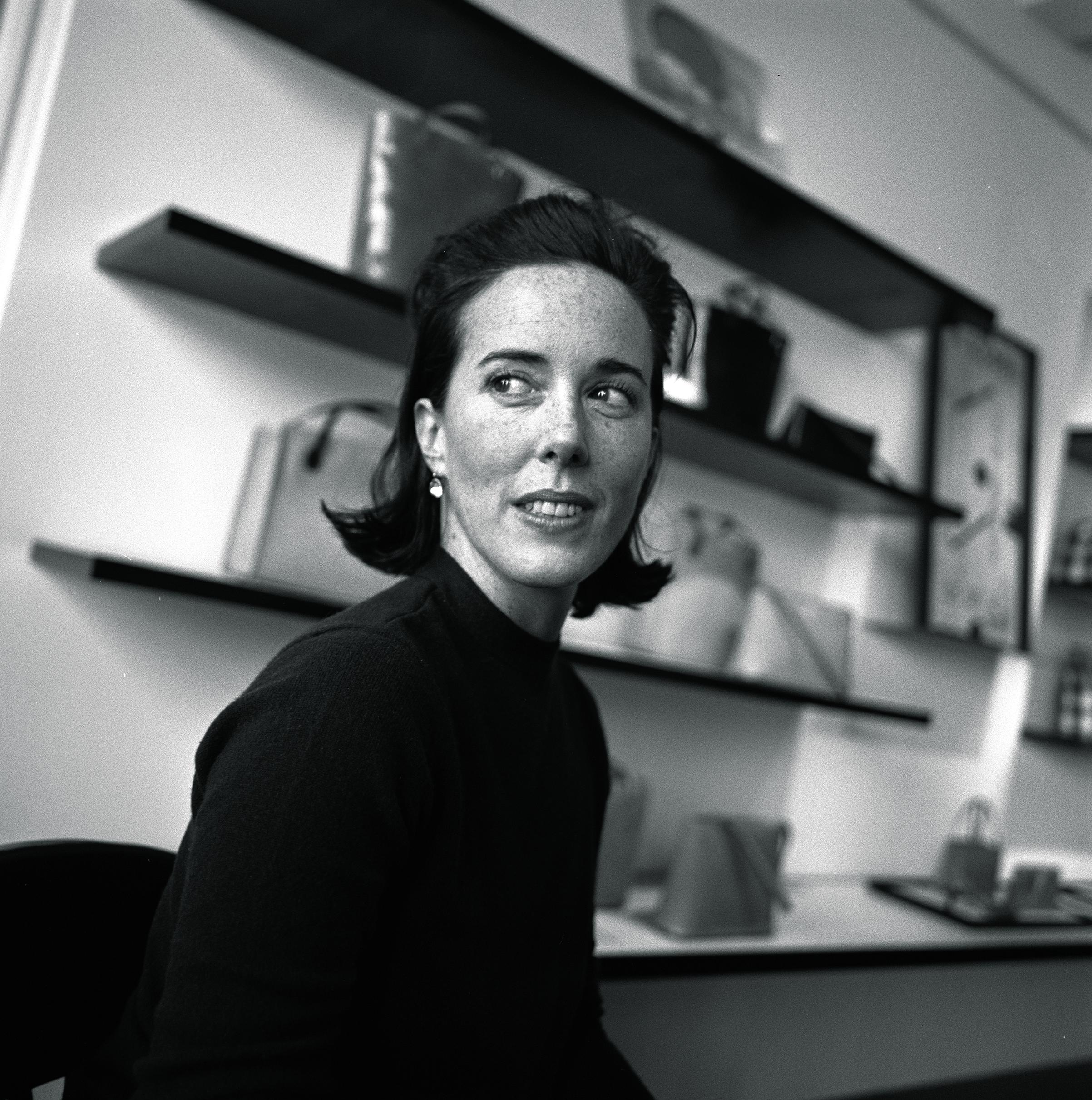 Not ALONE Designer Kate Spade in her New York City showroom on Nov. 2, 2000
