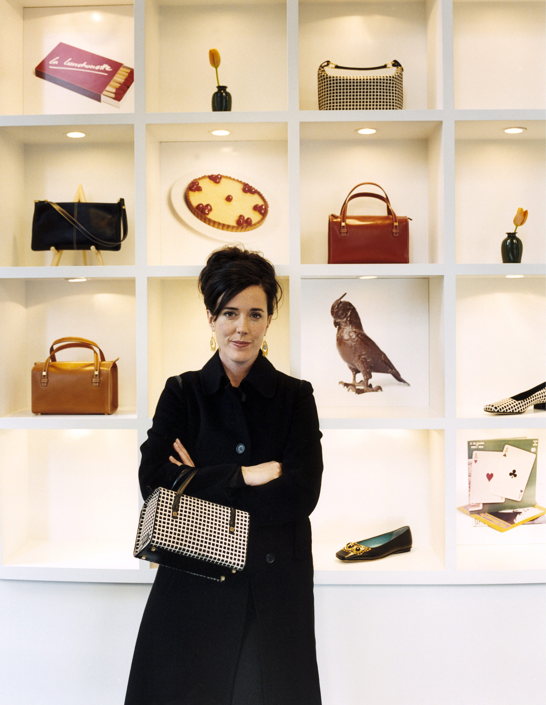American accessories designer Kate Spade in 2005