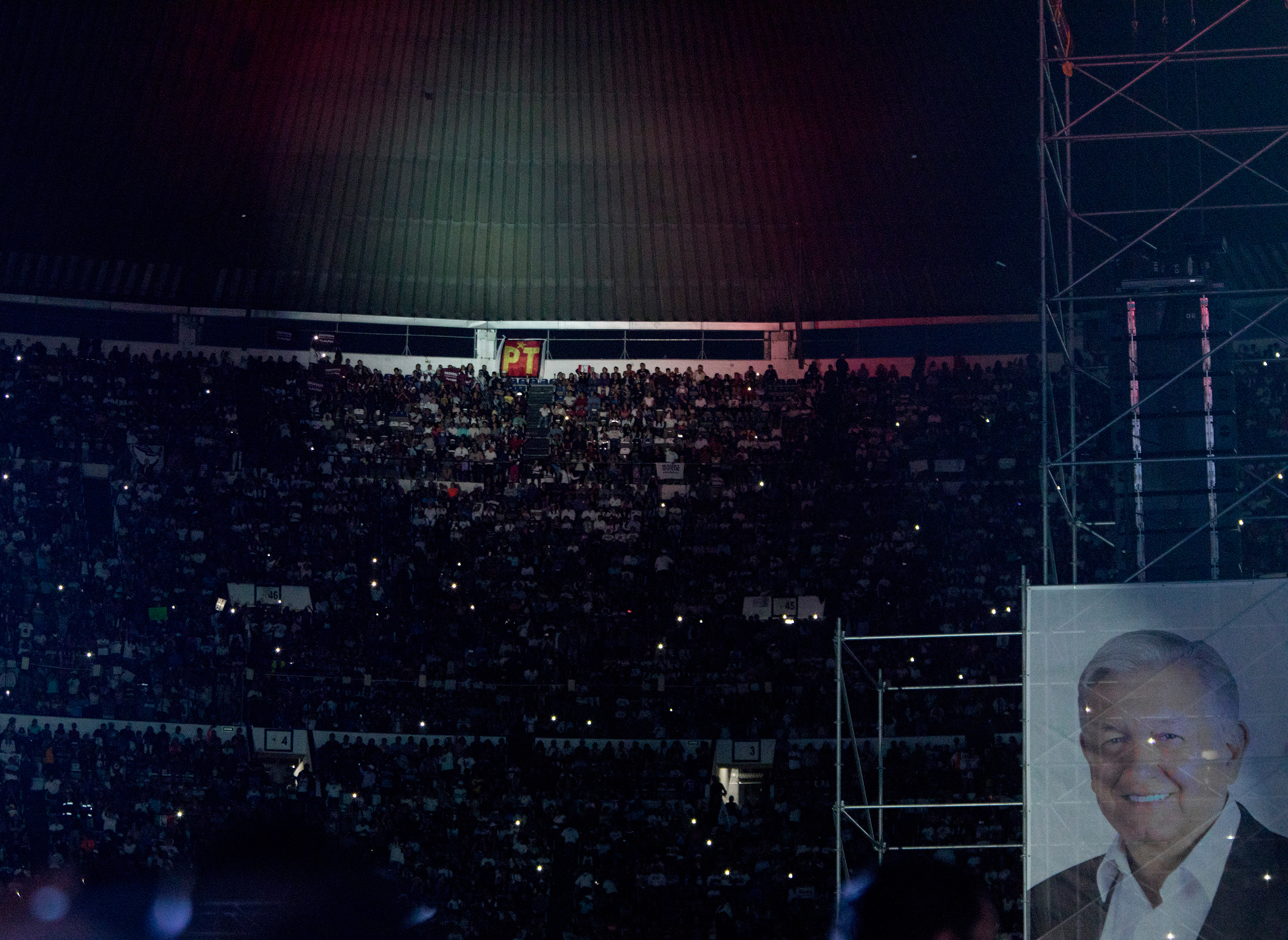López Obrador's final campaign rally at Estadio Azteca in Mexico City on June 27.