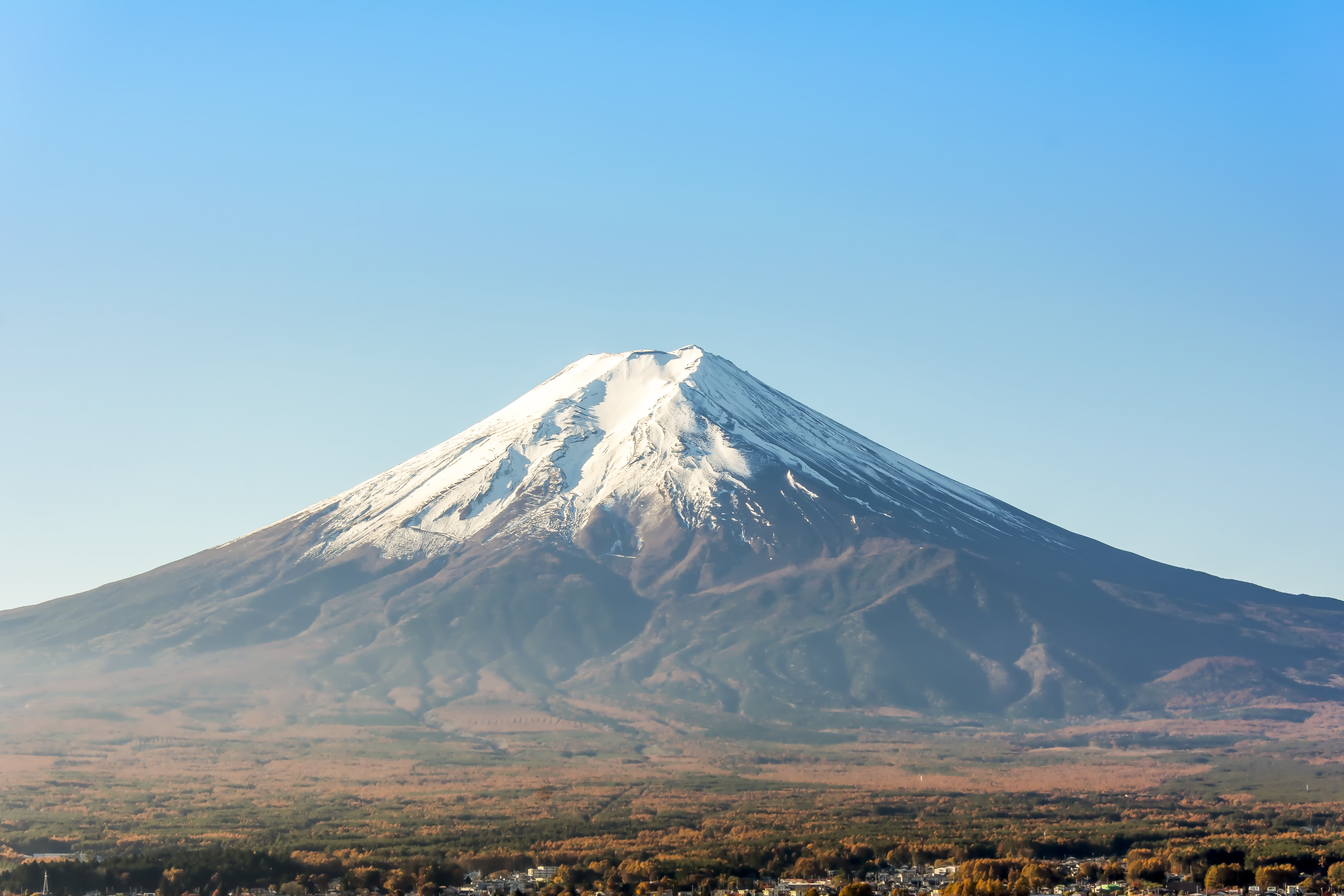 Japan's Mt. Fuji is an active volcano about 100 kilometres southwest of Tokyo.