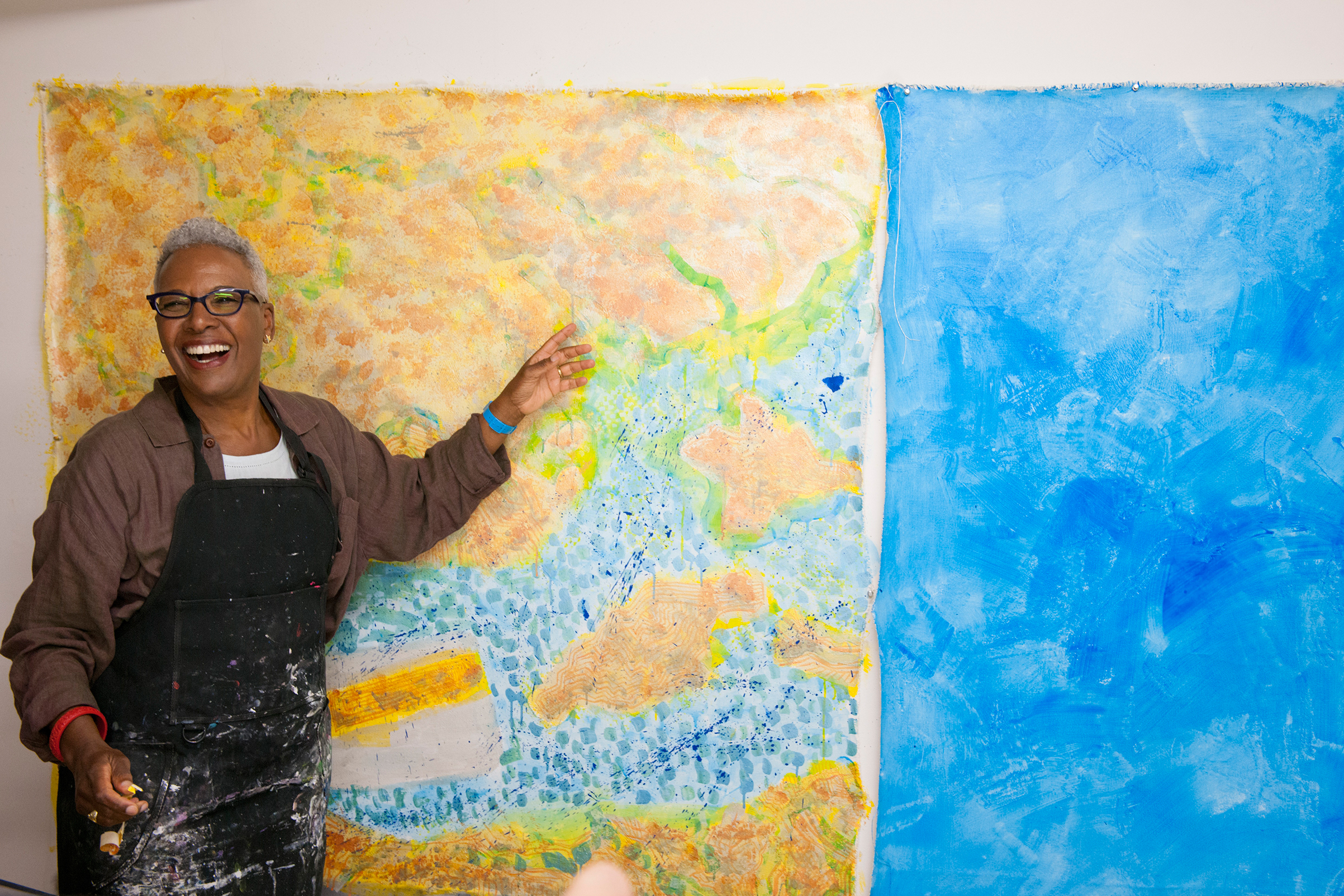 It's all about process: Painter shows off her progress on the canvas