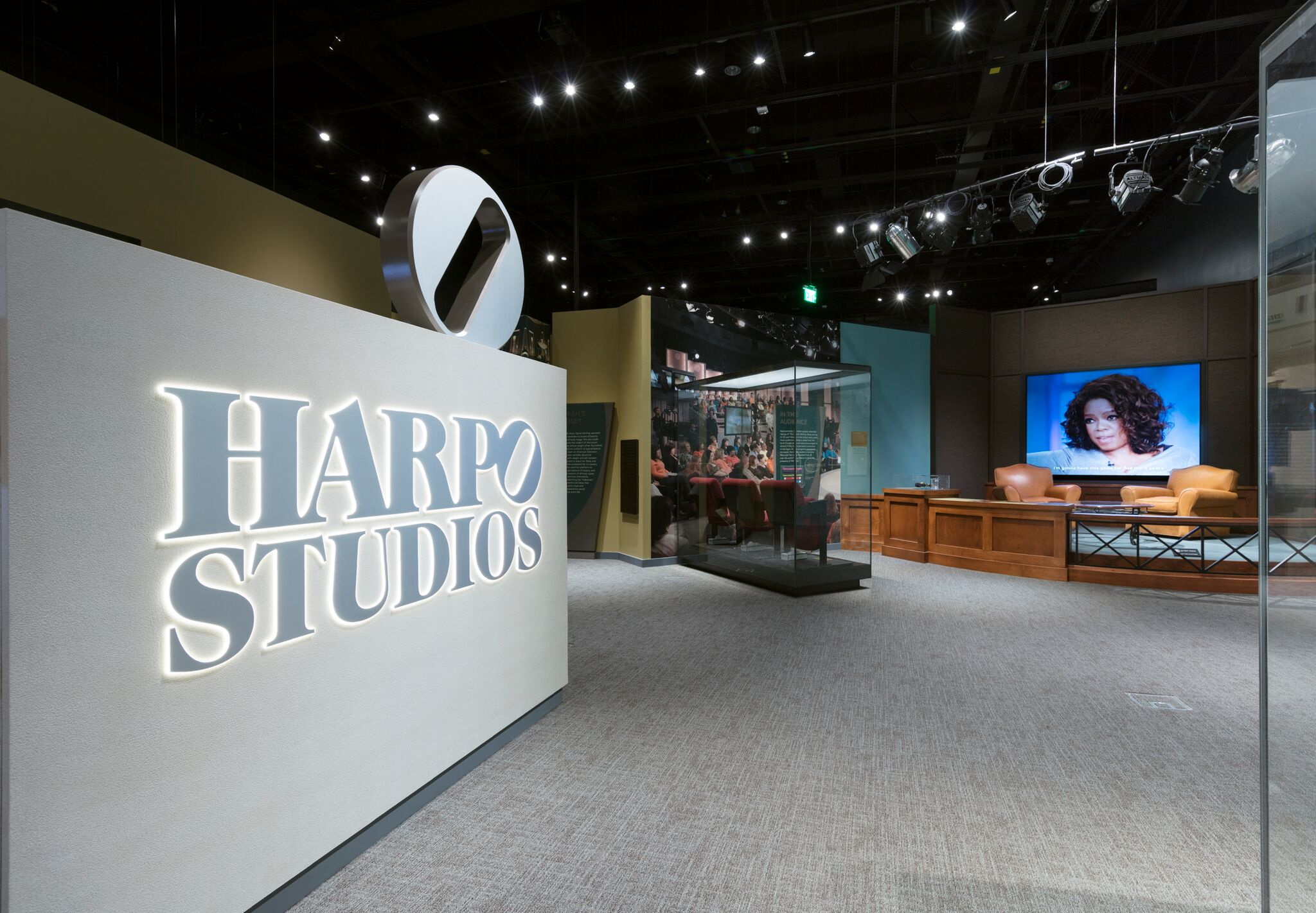 Pieces from the Harpo Studio set are featured in the Smithsonian's new temporary exhibit on Oprah Winfrey.