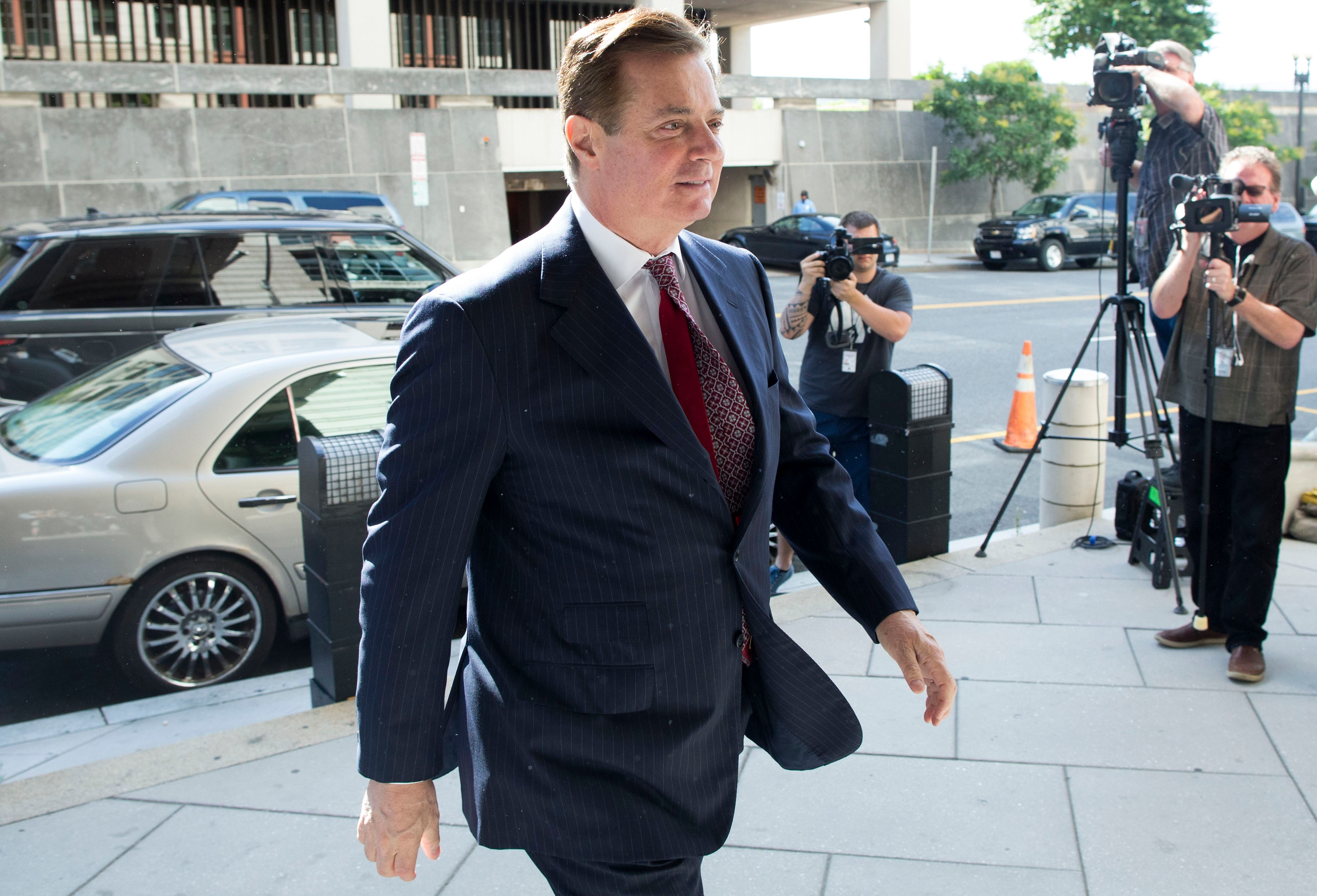 Former Trump campaign chairman Paul Manafort arrives at the Federal Courthouse in Washington, DC, USA, 15 June 2018. Manafort is accused of witness tampering and the office of US Special Counsel Robert Mueller has asked a federal judge to revoke his bail before a trial this autumn.                     Former Trump Campaign Manager Paul Manafort, Washington, USA - 15 Jun 2018