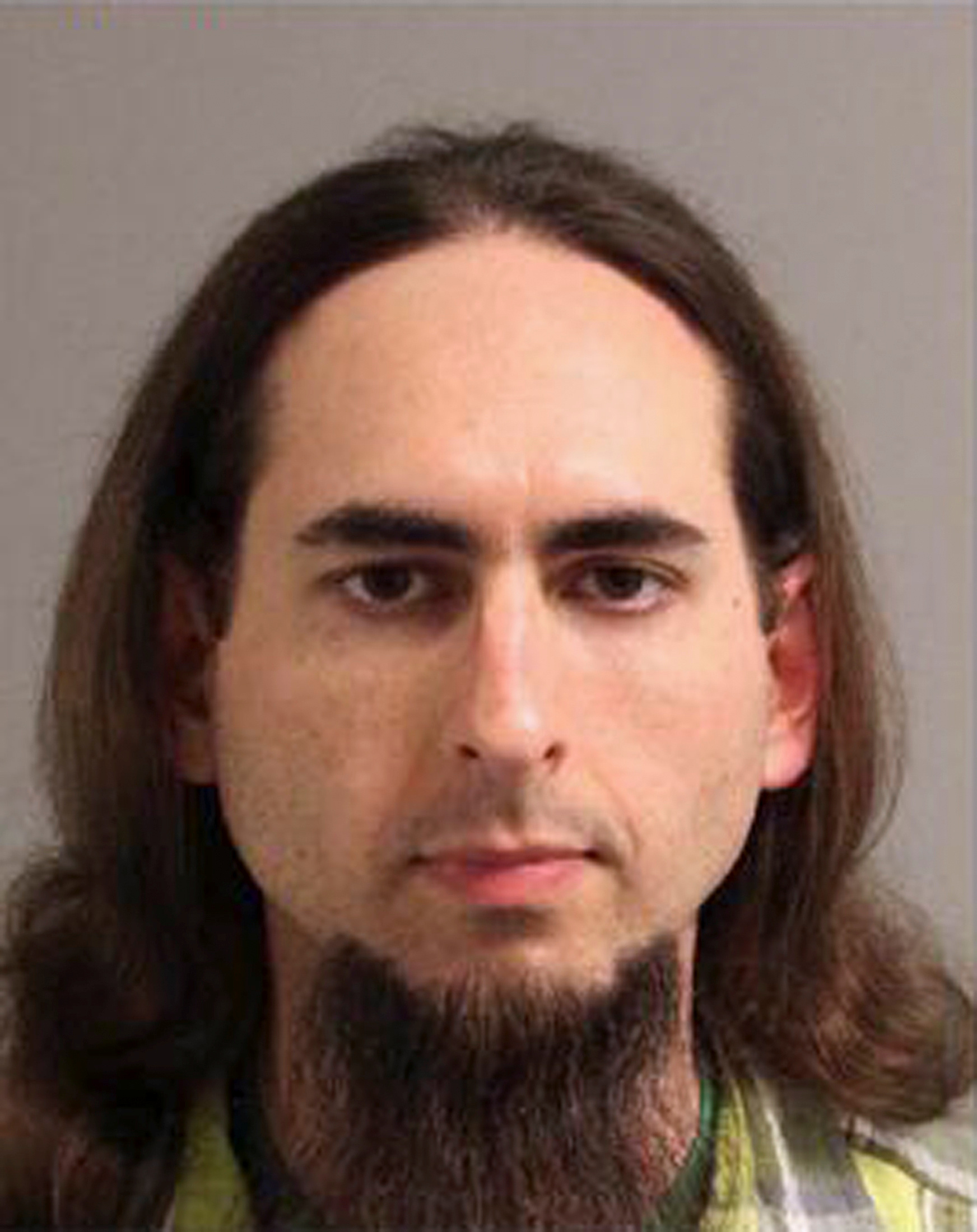 Jarrod Ramos, suspected of killing five people at the offices of the Capital Gazette newspaper office in Annapolis, Maryland on June 28, 2018 is seen in this 2013 Anne Arundel Police Department booking photo obtained from social media.
