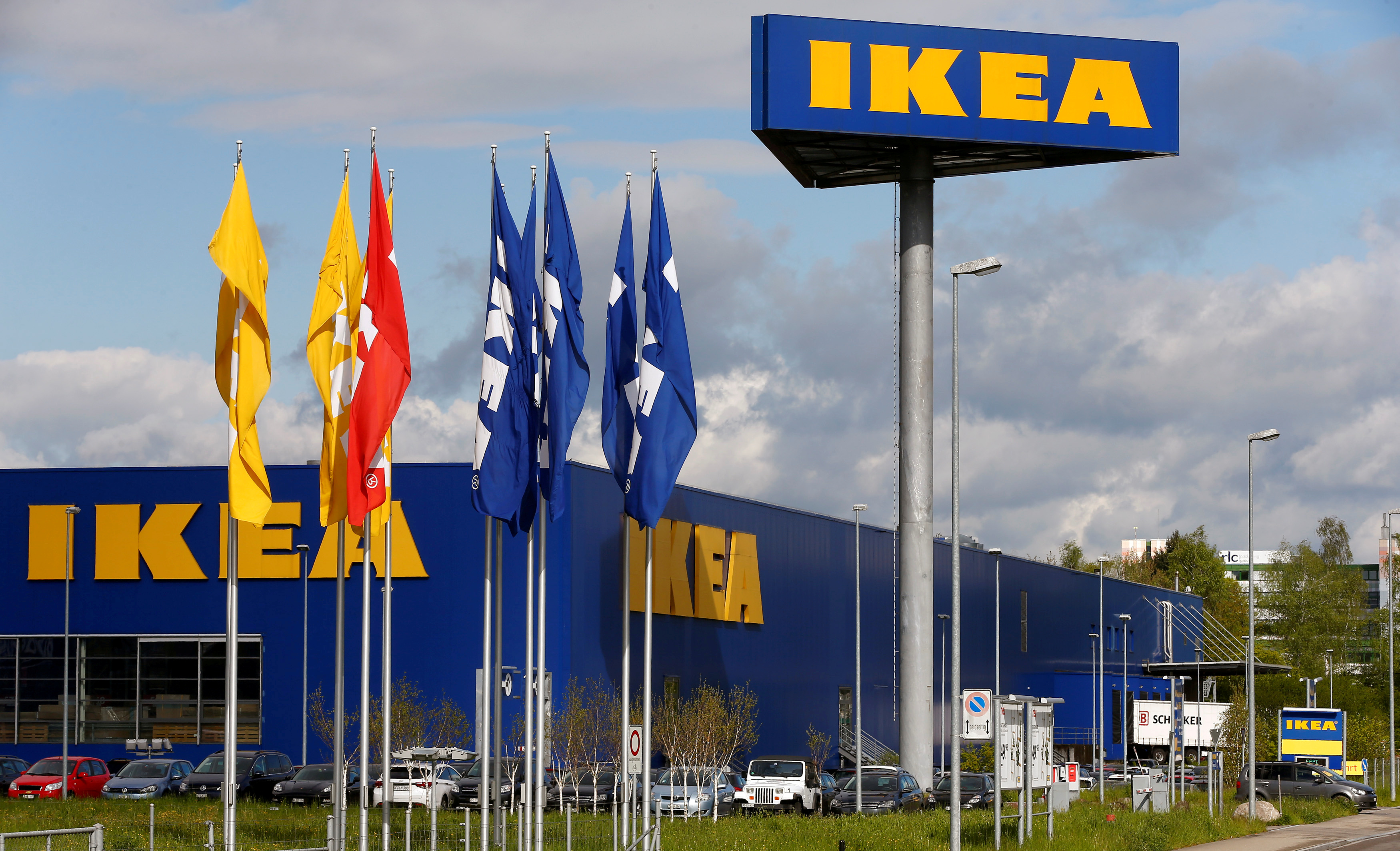The company's logo is seen outside of an IKEA Group store in Spreitenbach, Switzerland on April 27, 2016.