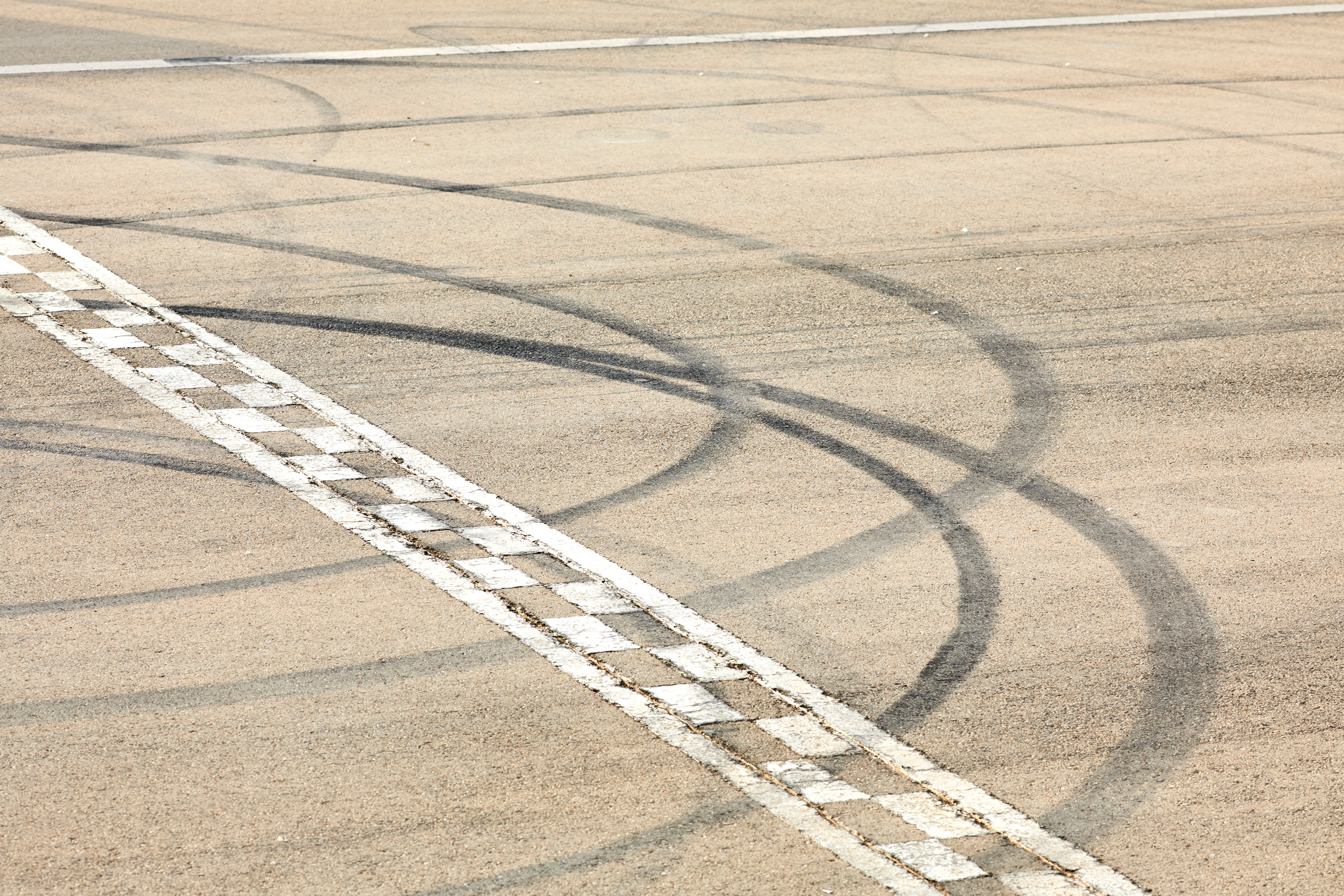 The start line at Reem International Circuit, the track in Riyadh where Saudi race-car driver Aseel al-Hamad took her maiden lap in her home country.