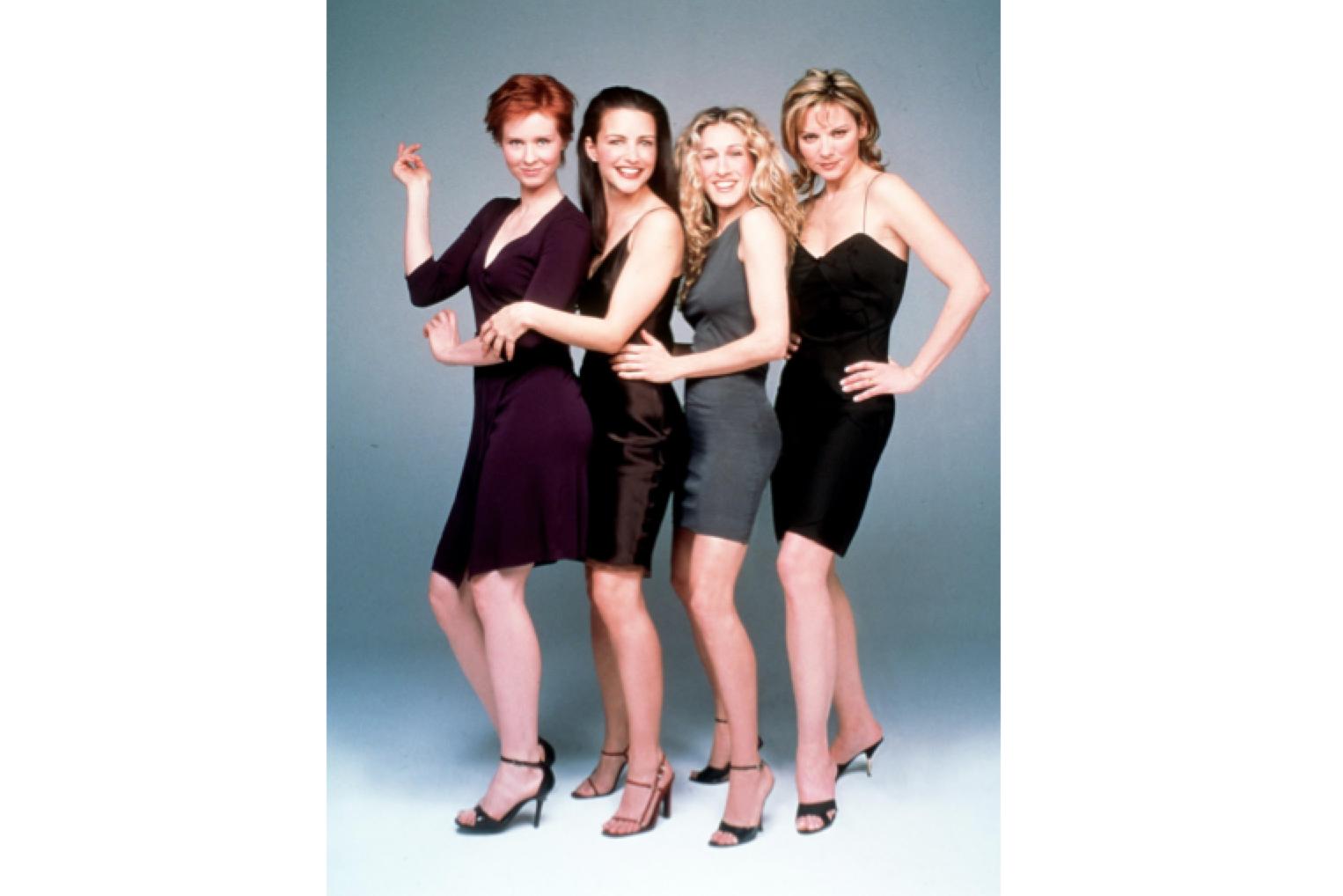 Cynthia Nixon, Kristin Davis, Sarah Jessica Parker and Kim Cattrall in 1999