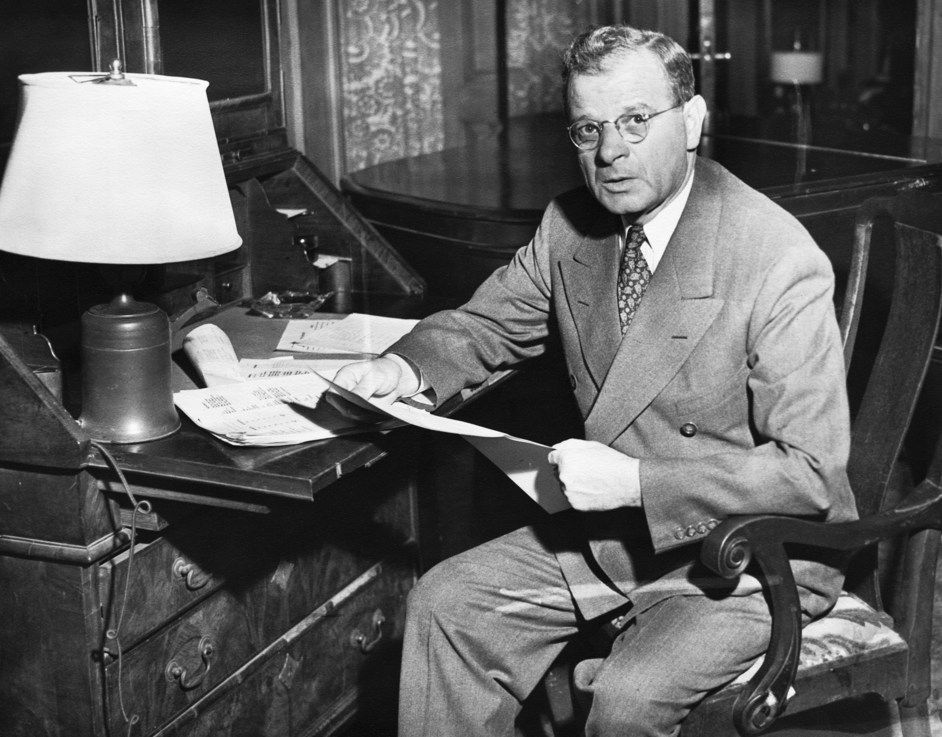 Sidney Hillman, founder of the Amalgamated Clothing Workers of America, (1914-1946).