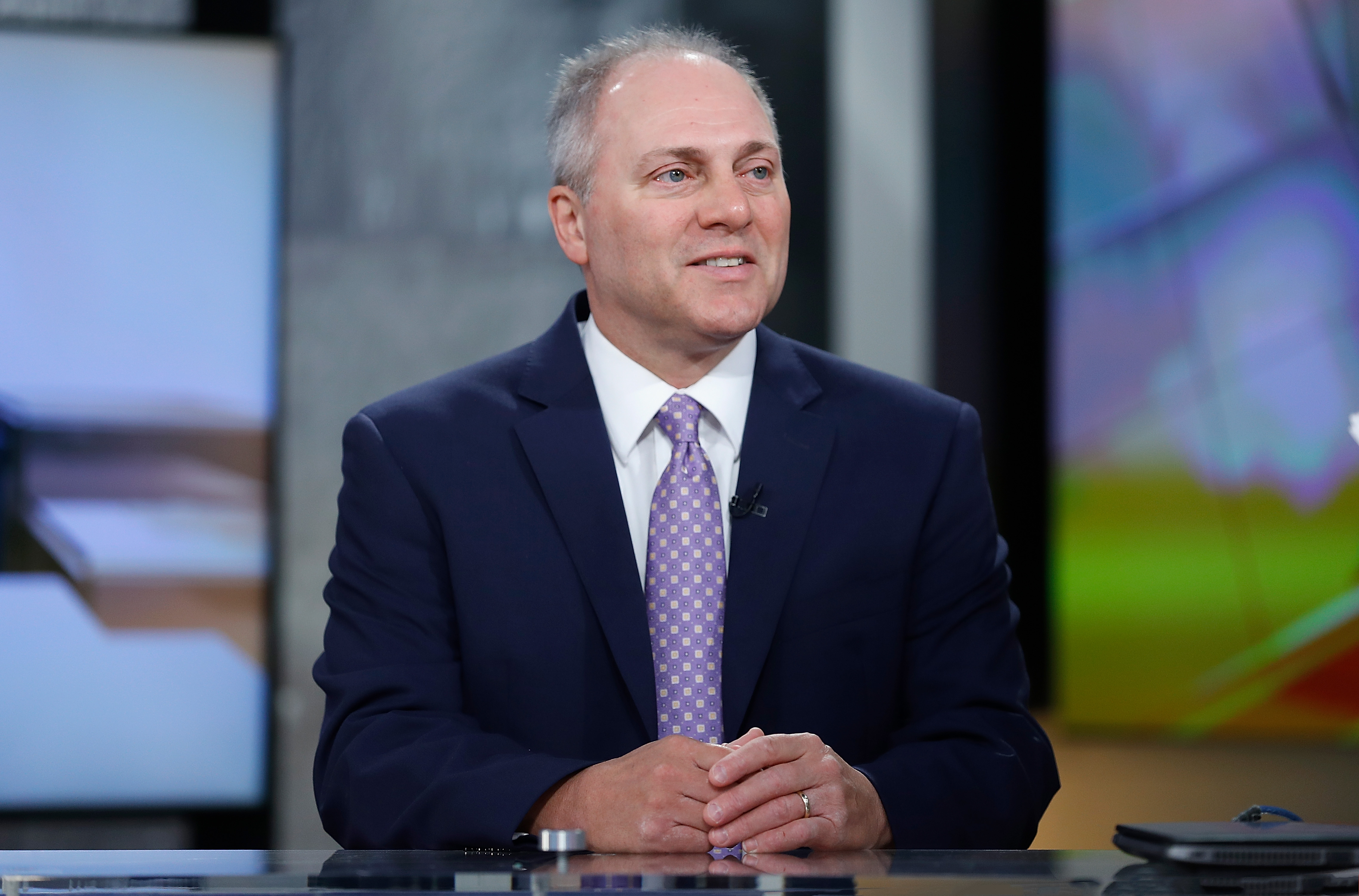 United States House of Representatives Majority Whip and U.S. Rep. Steve Scalise visits  Mornings With Maria  at Fox Business Network Studios on June 5, 2018 in New York City.