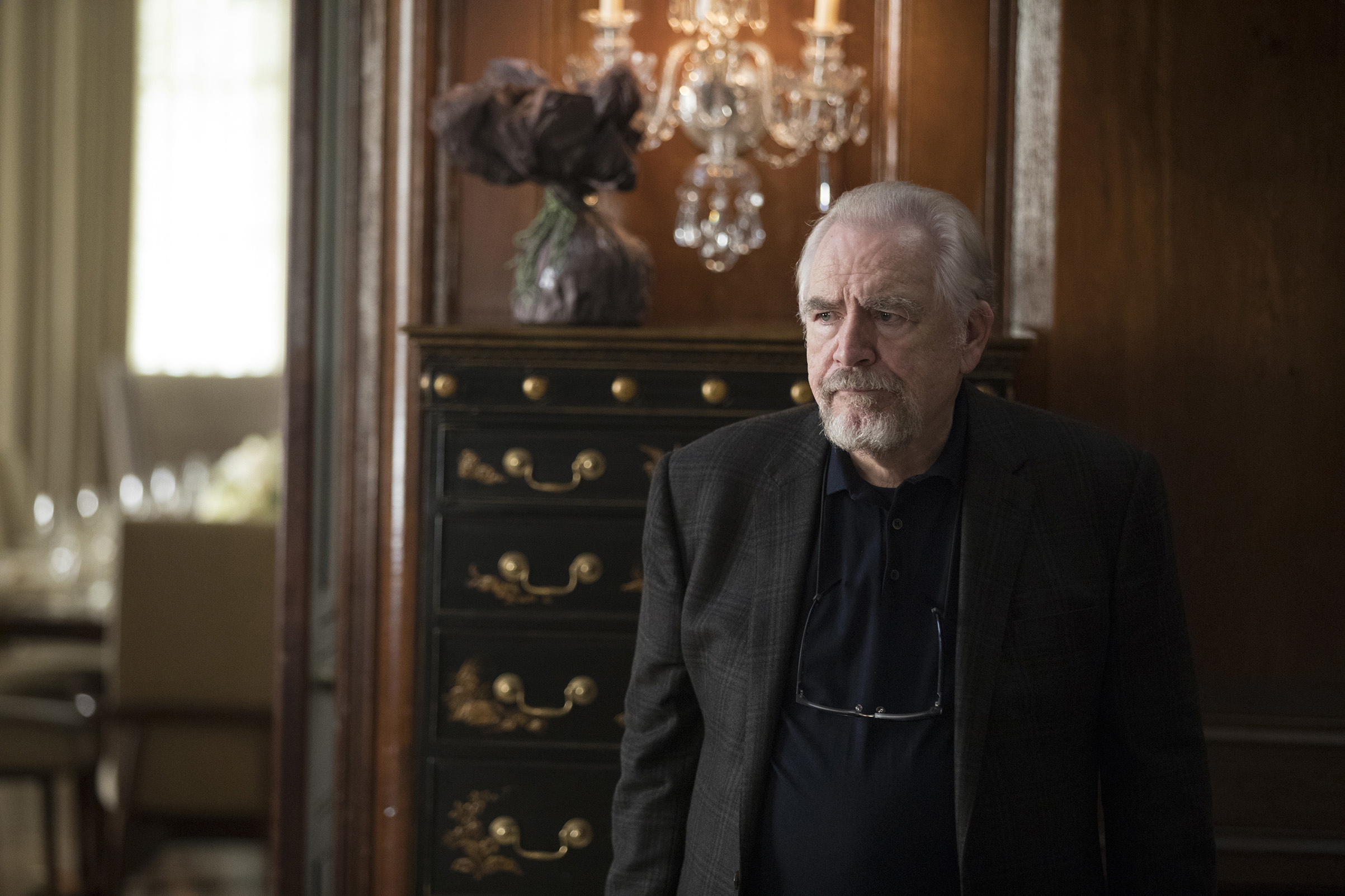 On Succession, Brian Cox plays Logan Roy, a mogul searching for an heir