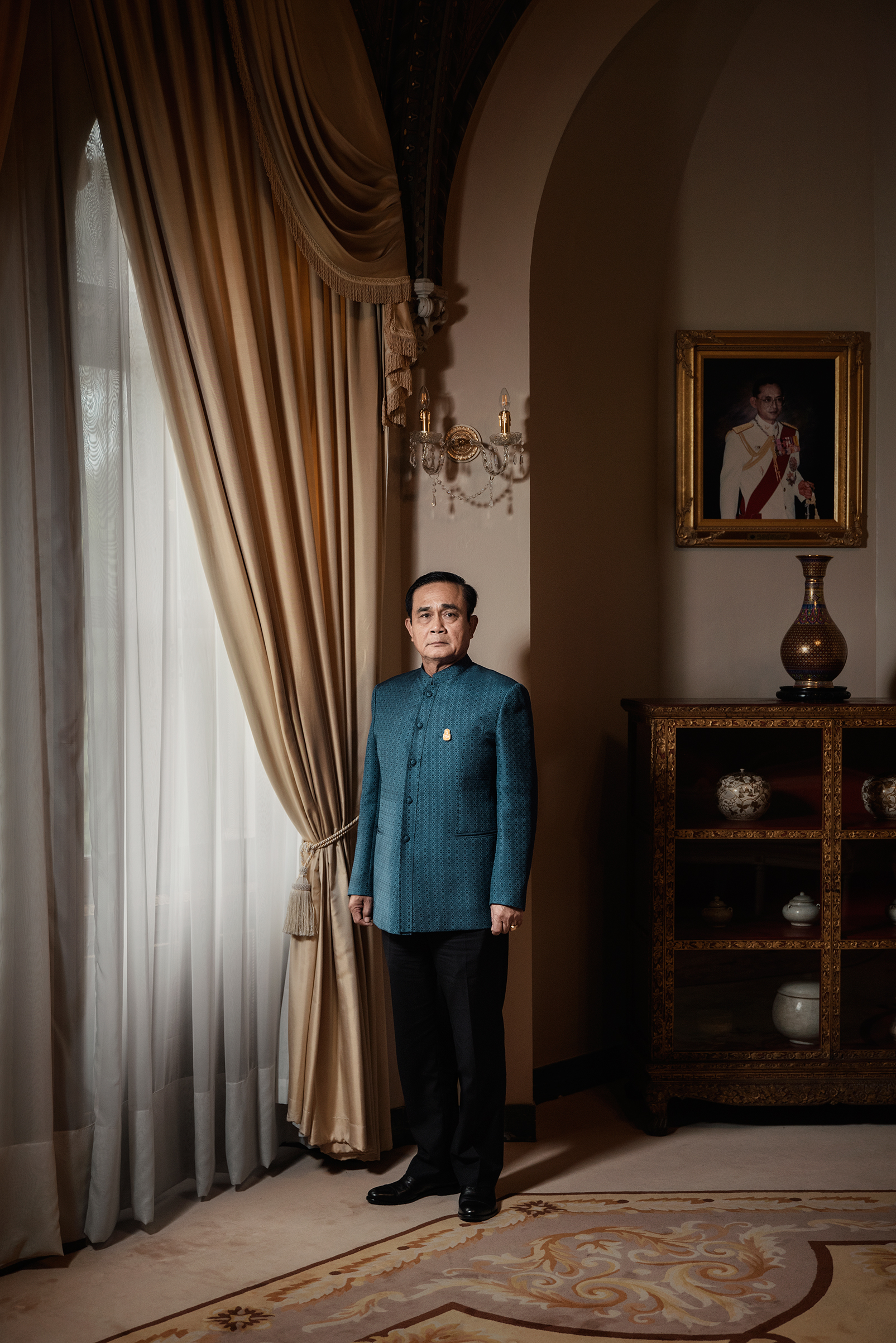 The Prime Minister of Thailand, Prayut Chan-o-cha, stands for a portrait at Government House in Bangkok, Thailand on Jun. 2, 2018.