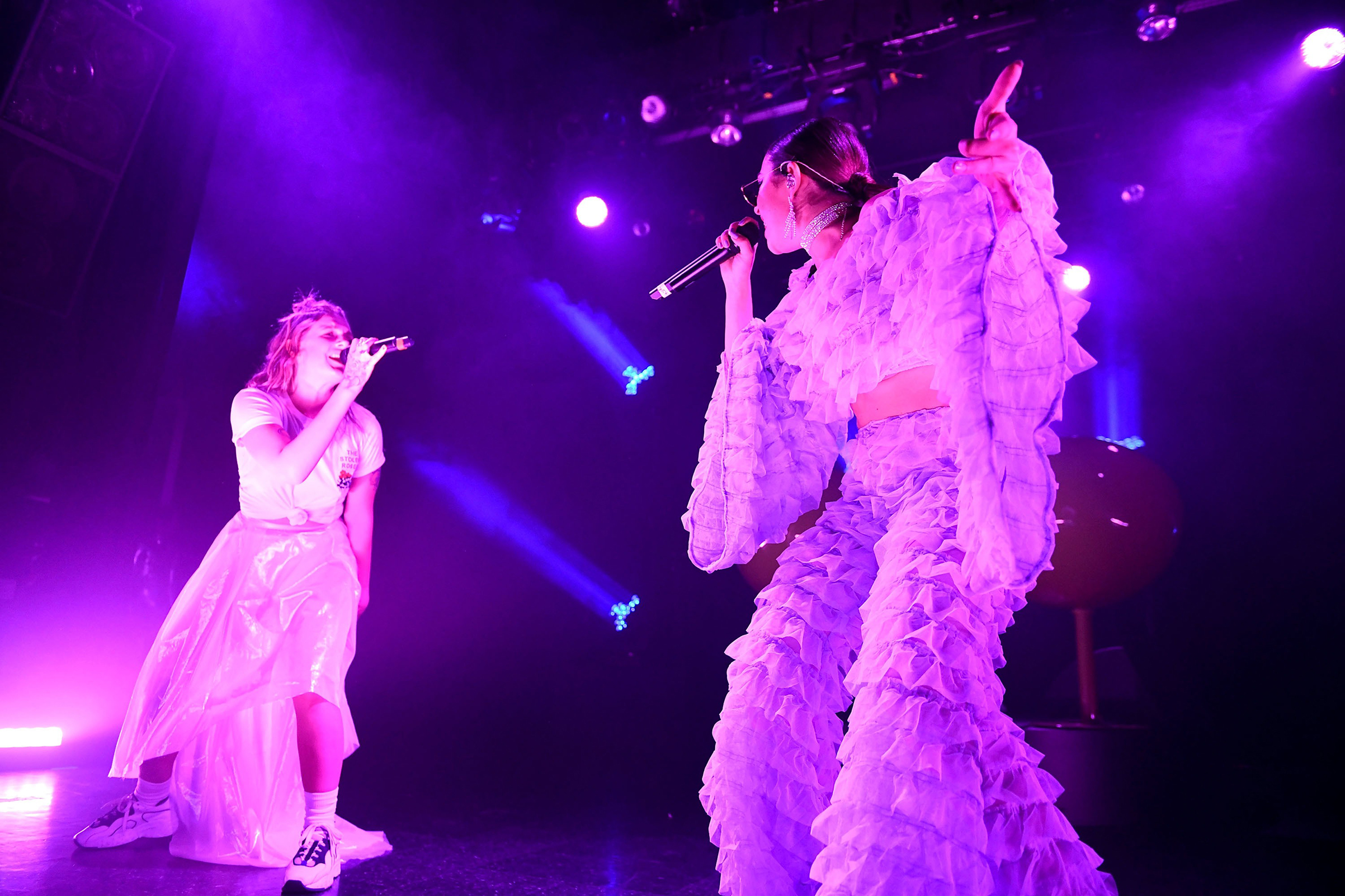 Artists Tove Lo, left, and Charli XCX, who worked together on a song on the Pop 2 mixtape, are some of collaborative pop's biggest proponents