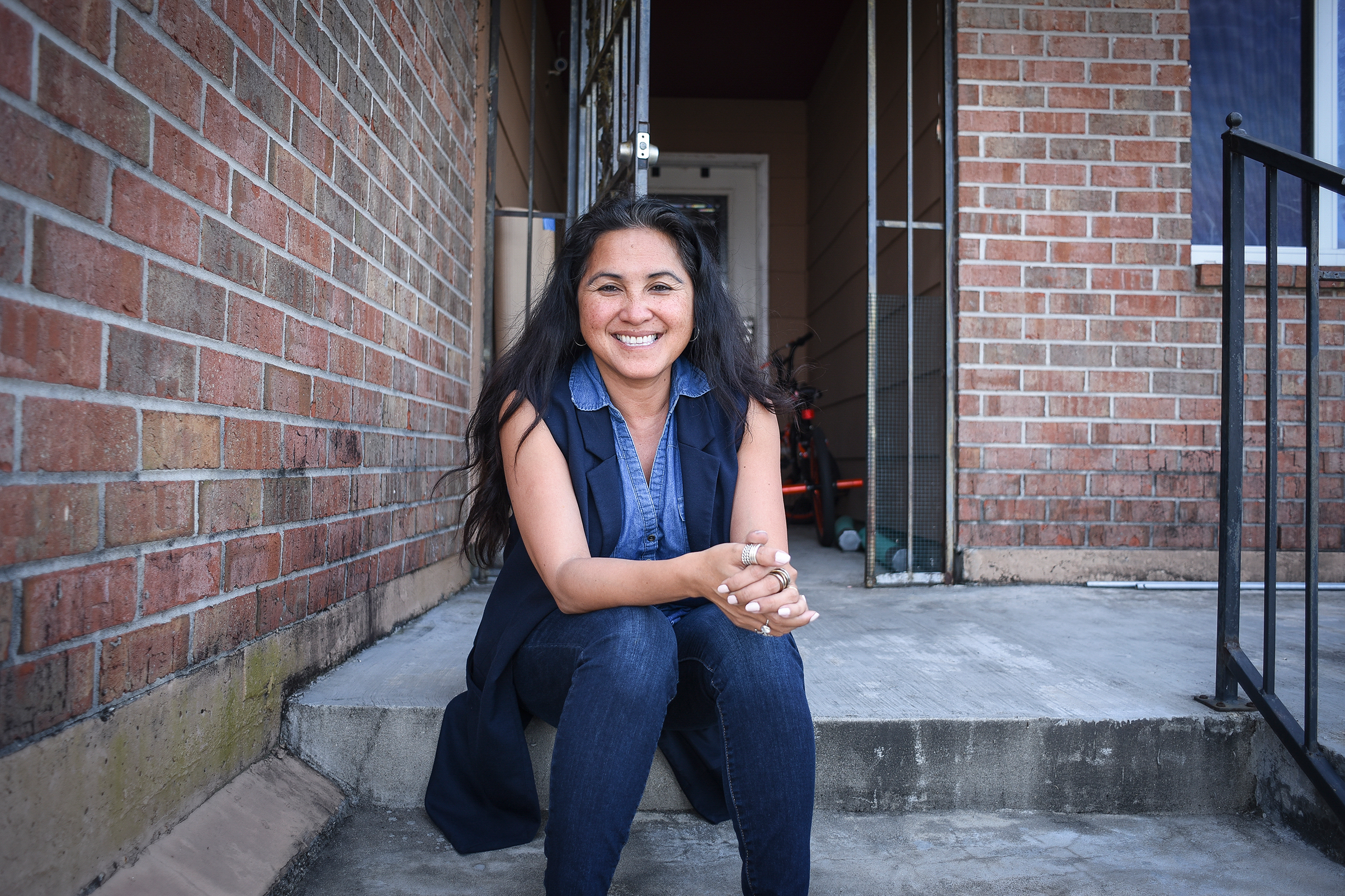 Cyndi Nguyen, who won a seat on the City Council in last year's election, outside her home in the Village de l'Est neighborhood of New Orleans, March 28, 2018.