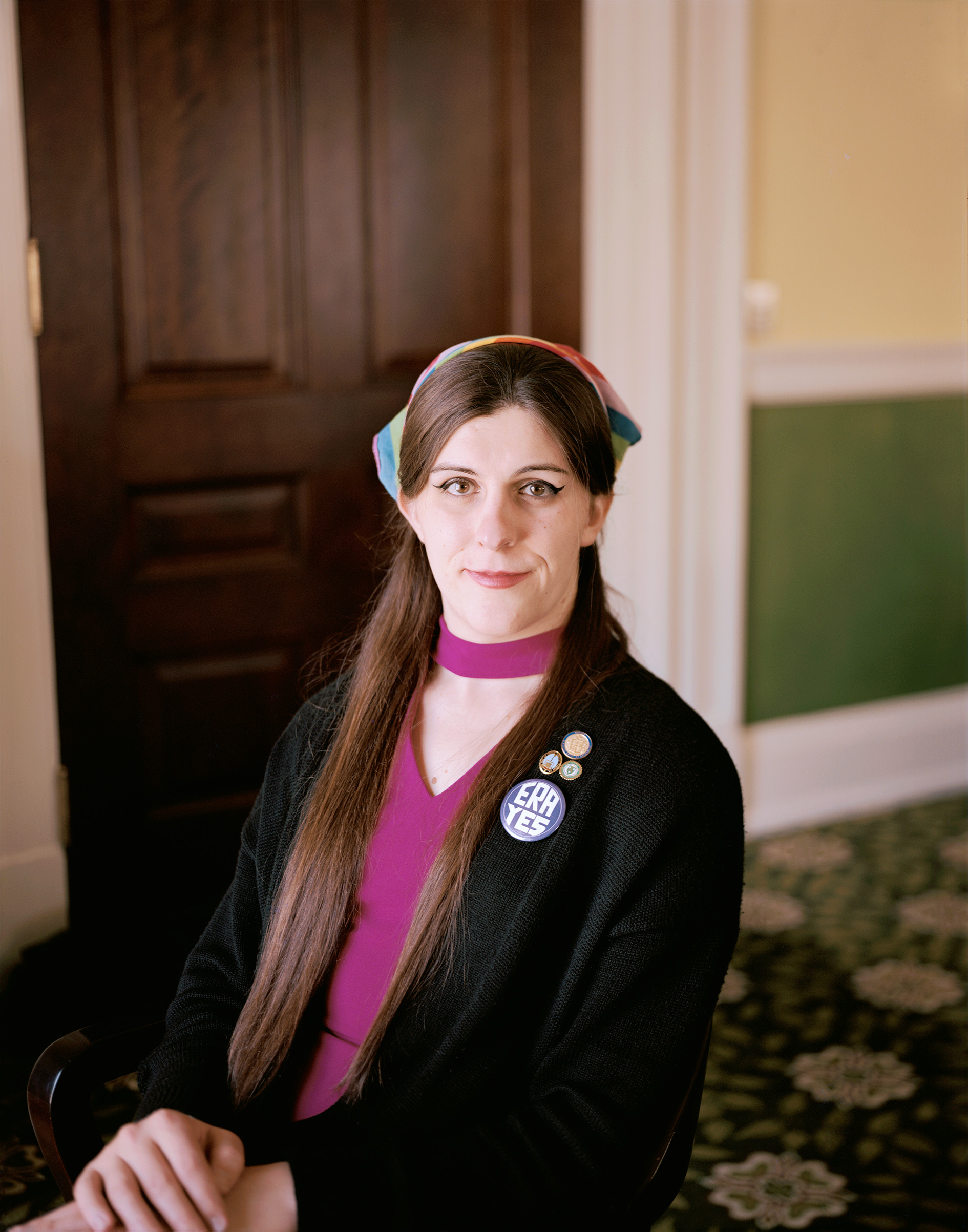 Del. Danica Roem at the Virginia State Capitol in Richmond, Va., May 10, 2018.