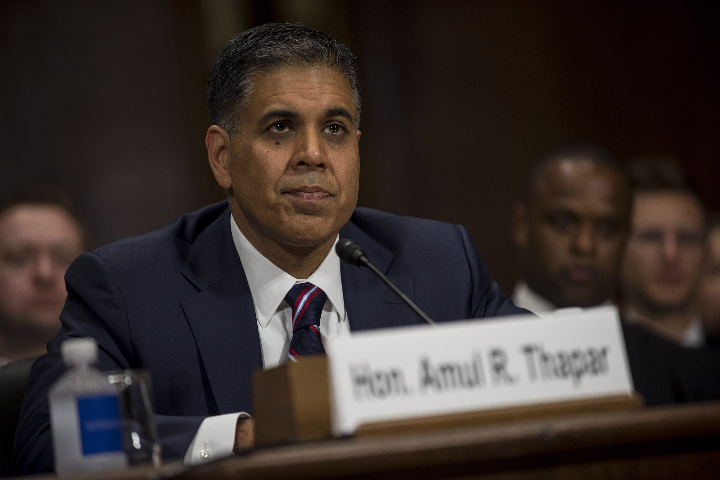 Amul Thapar, a federal judge in Kentucky nominated for a seat on the U.S. Court of Appeals for the Sixth Circuit, during a Senate Judiciary confirmation hearing on Capitol Hill in Washington, April 26, 2017