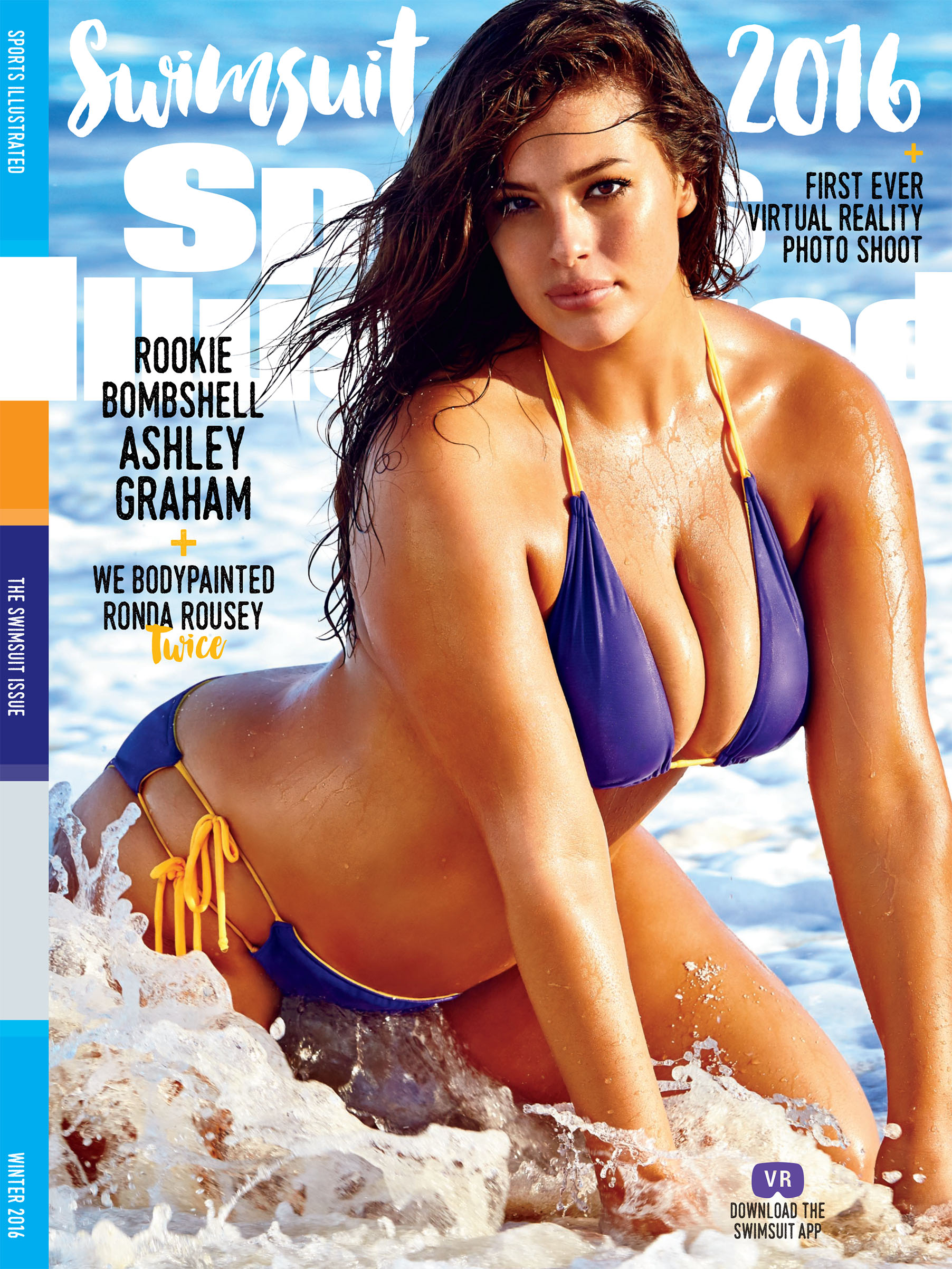 Model Ashley Graham on the cover of the Sports Illustrated Swimsuit issue in 2016.