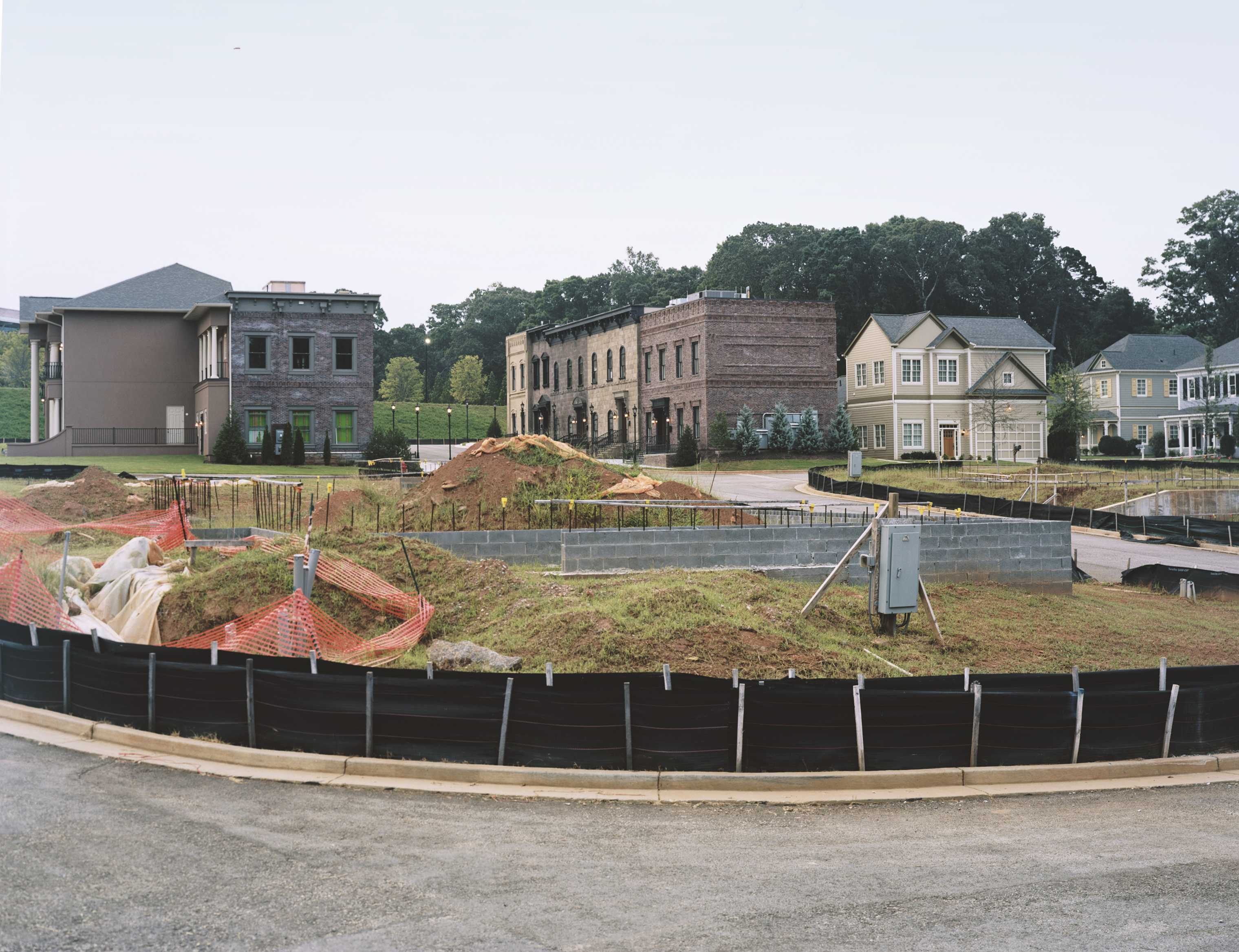 A view of  Maxineville,  named in memory of Tyler Perry's mother Maxine is part of an extensive backlot at Tyler Perry Studios, parts of which are still under construction. The studio will be fully complete in 2019. Situated on 330 acres of historic property on the decommissioned, Fort McPherson Army base.