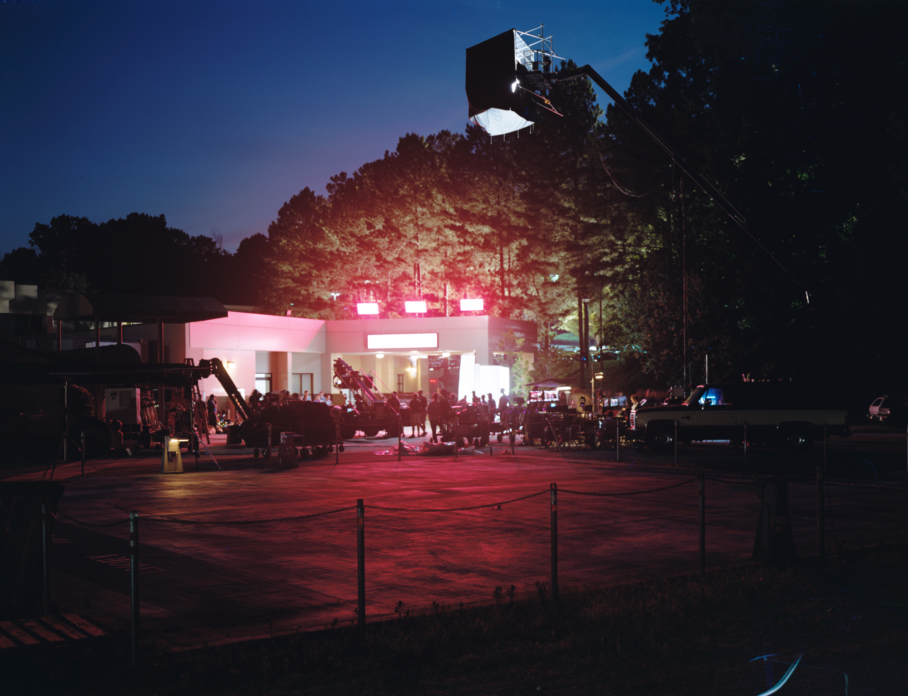 Lights and cameras on the set of Netflix's 'Stranger Things' season 3, filmed on location in Georgia.