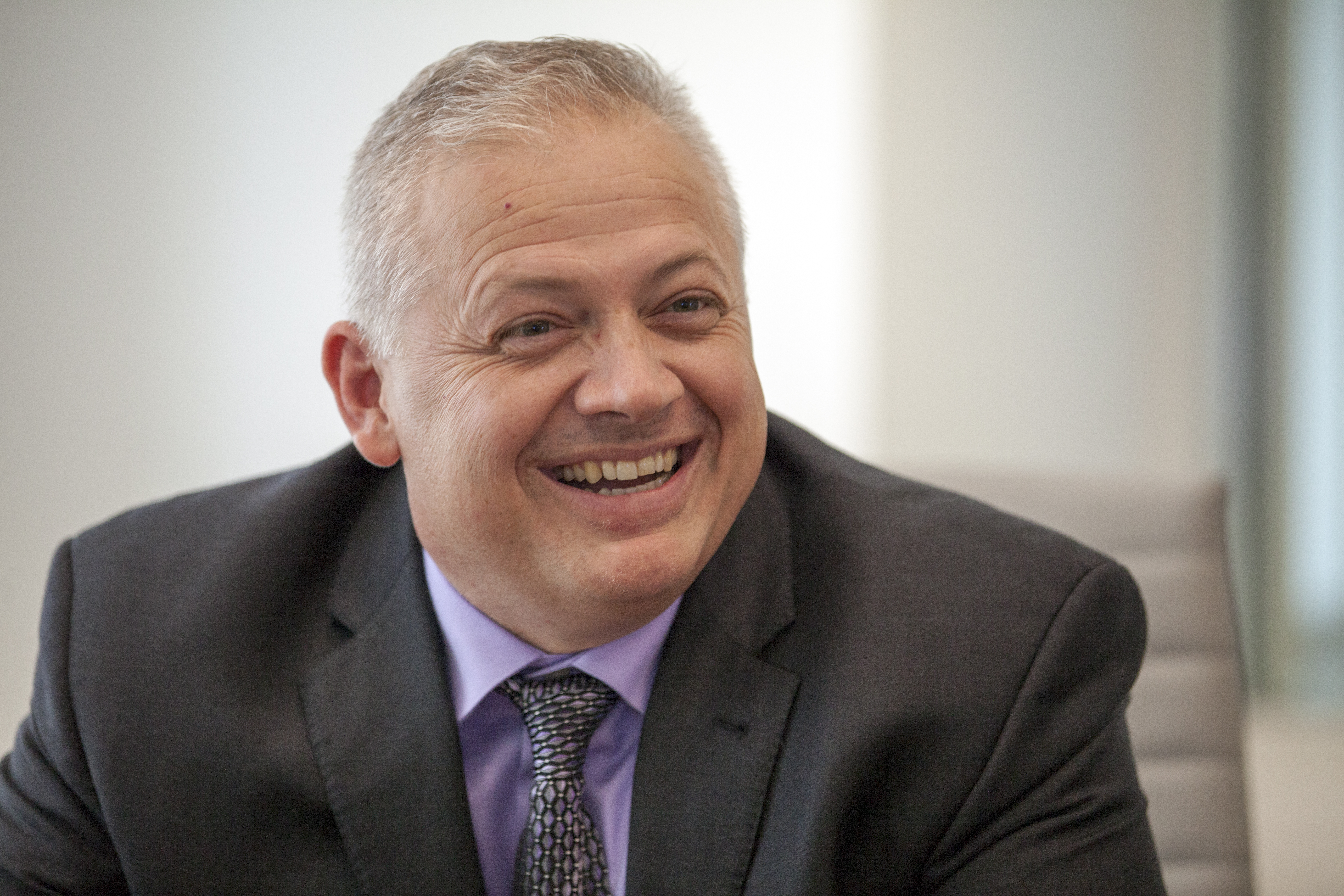 Denver Riggleman, Republican candidate for Virginia's 5th Congressional district, is interviewed by CQ Roll Call at their D.C. office, June 20, 2018.