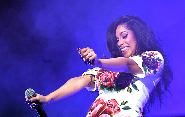Cardi B performs on stage during Hot 107.9 Birthday Bash at Cellairis Amphitheatre at Lakewood on June 16, 2018 in Atlanta, Georgia.
