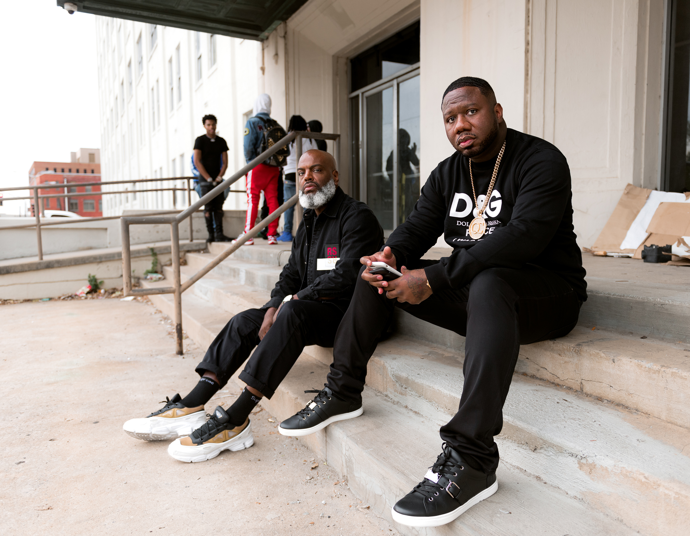 Kevin Lee, left, and Pierre Thomas have built Quality Control Music into the South's leading hip-hop label