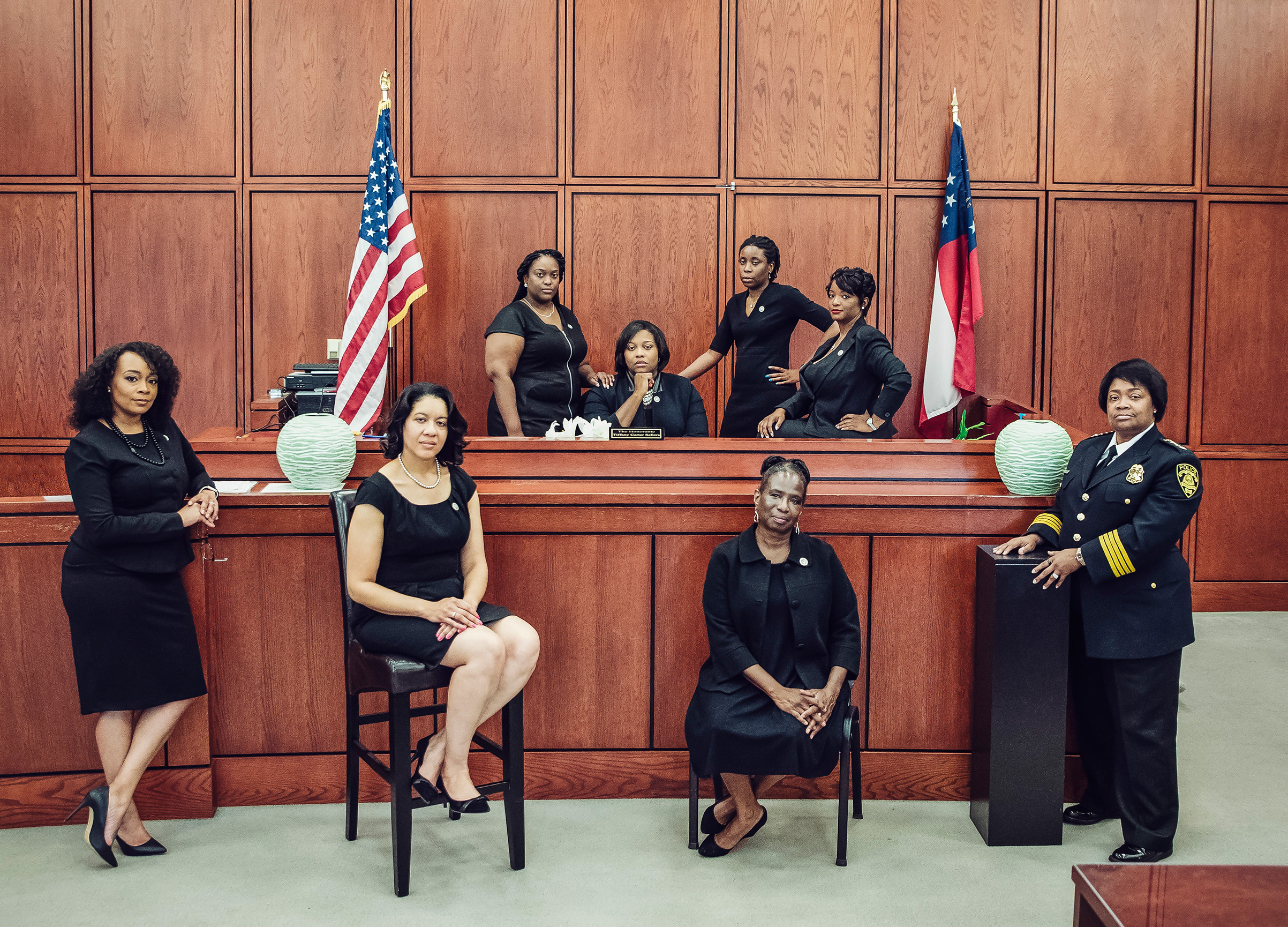 This photo of one city's justice-system leaders appeared in the Atlanta Voice and then went viral