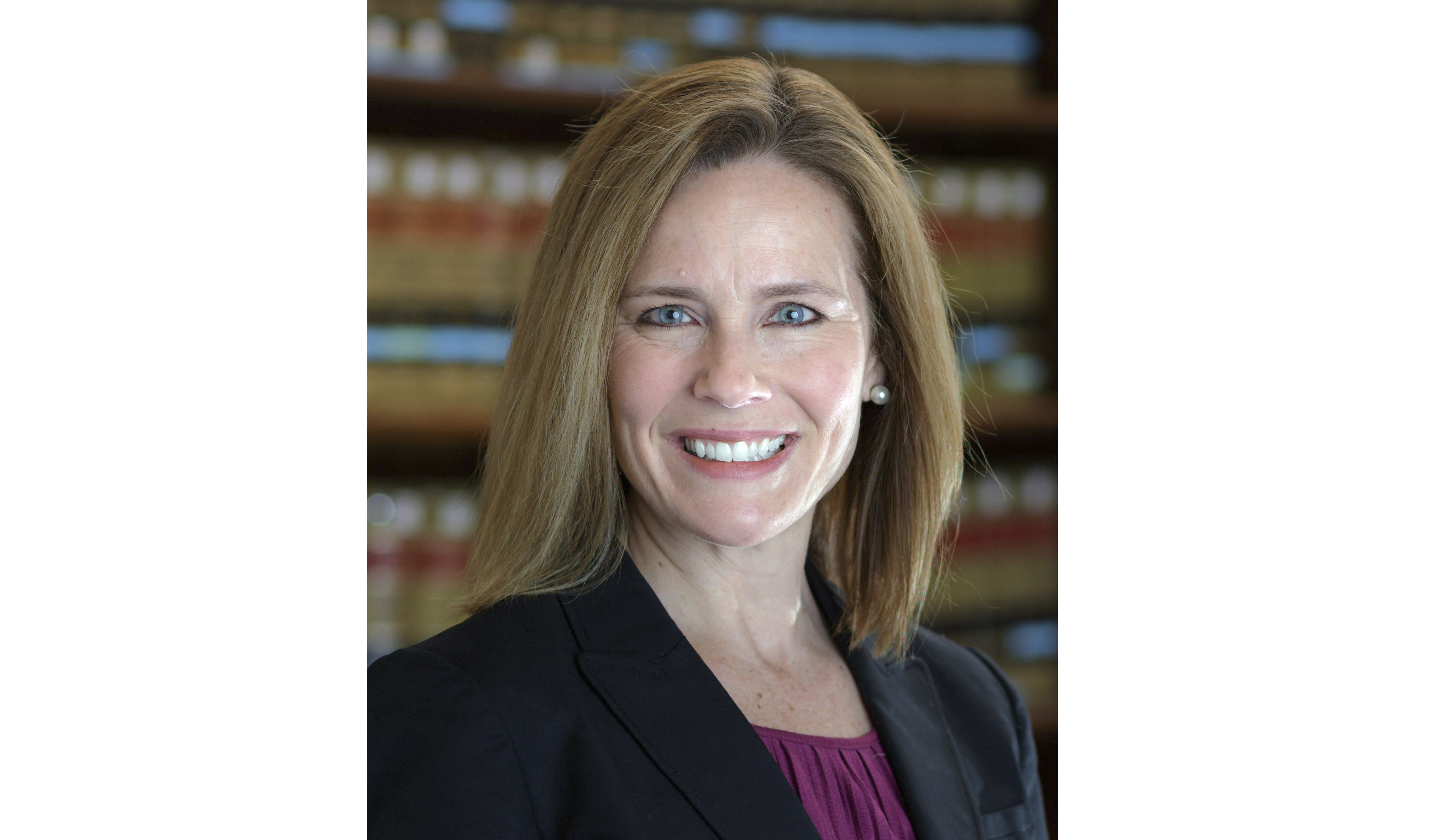 This 2017 photo provided by the University of Notre Dame Law School in South Bend, Ind., shows Judge Amy Coney Barrett.