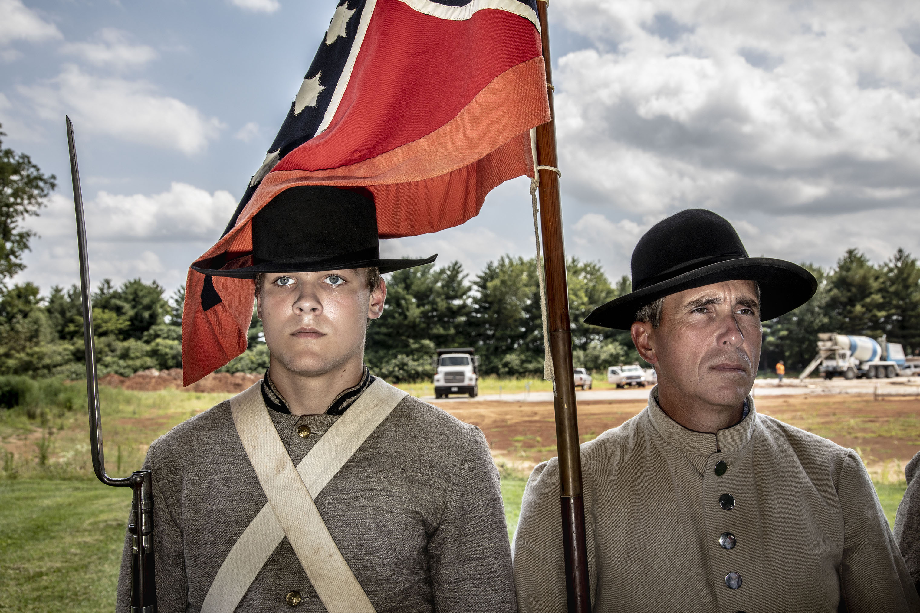 Reenactors at the museum's dedication.