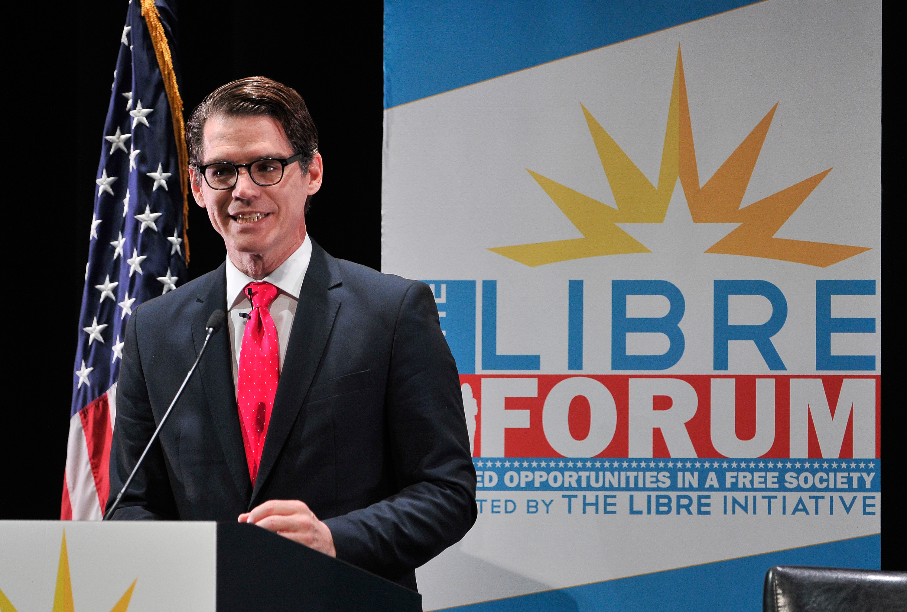 The LIBRE Initiative executive director Daniel Garza speaks during the LIBRE Initiative Fourm at the College of Southern Nevada on October 21, 2015 in North Las Vegas, Nevada.