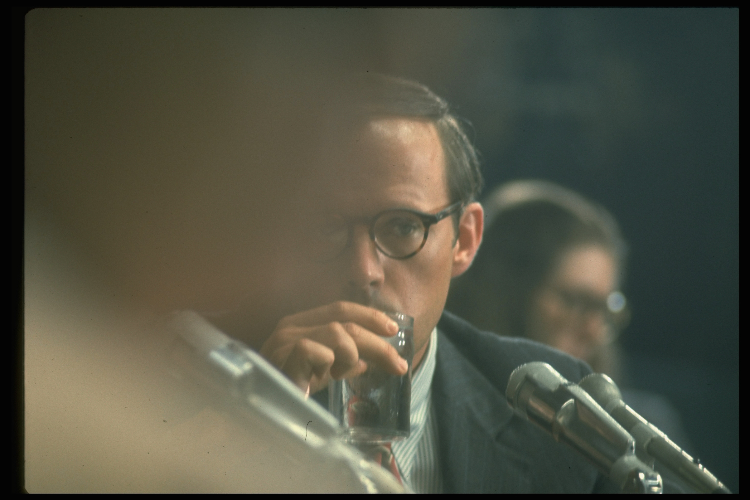 Nixon aide John Dean during Senate hearings on Watergate break-in.