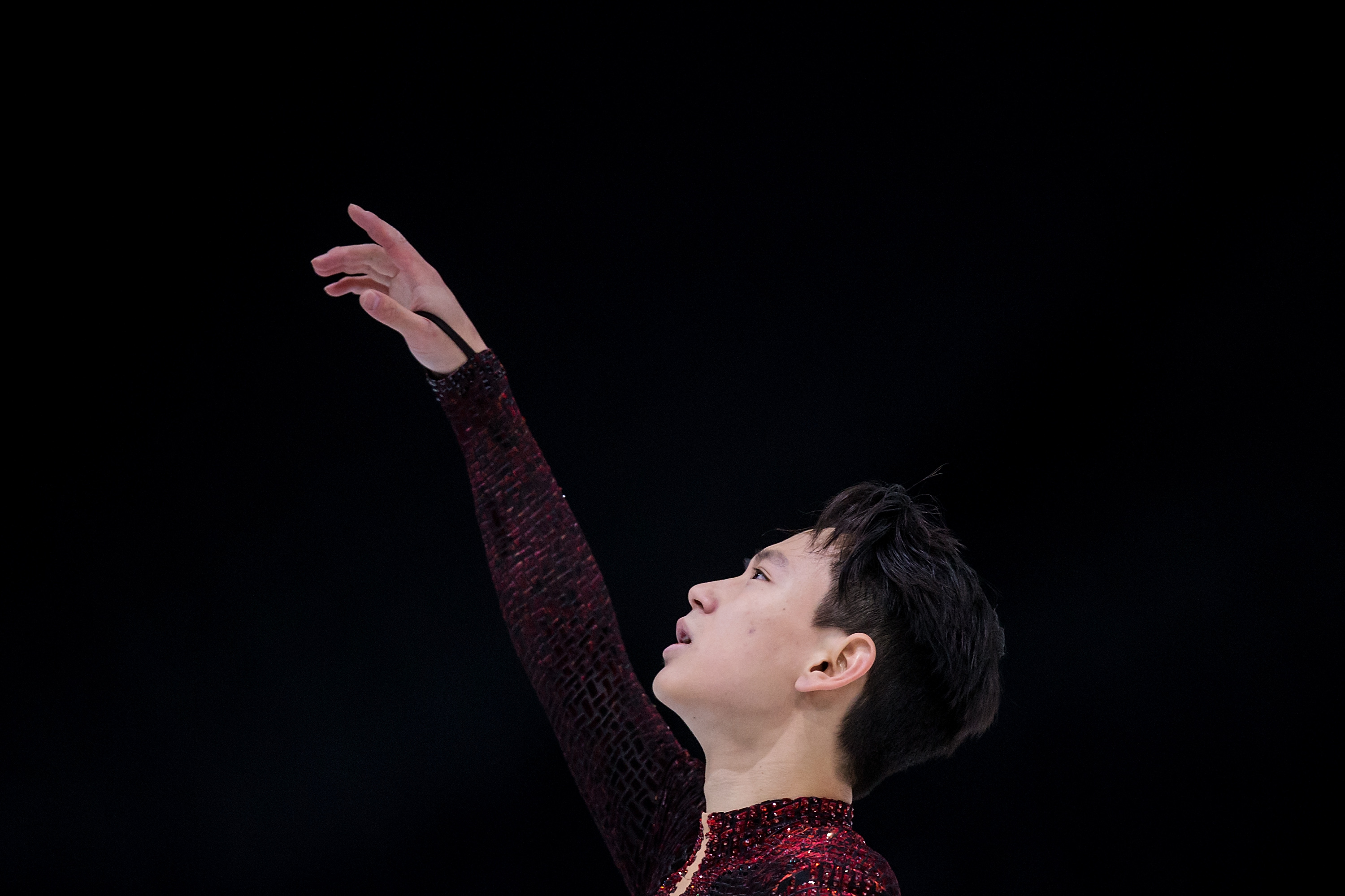 Denis Ten of Kazakhstan competes during Men's Free Skating on day two of the Trophee de France ISU Grand Prix of Figure Skating at Accorhotels Arena on November 12, 2016 in Paris, France.