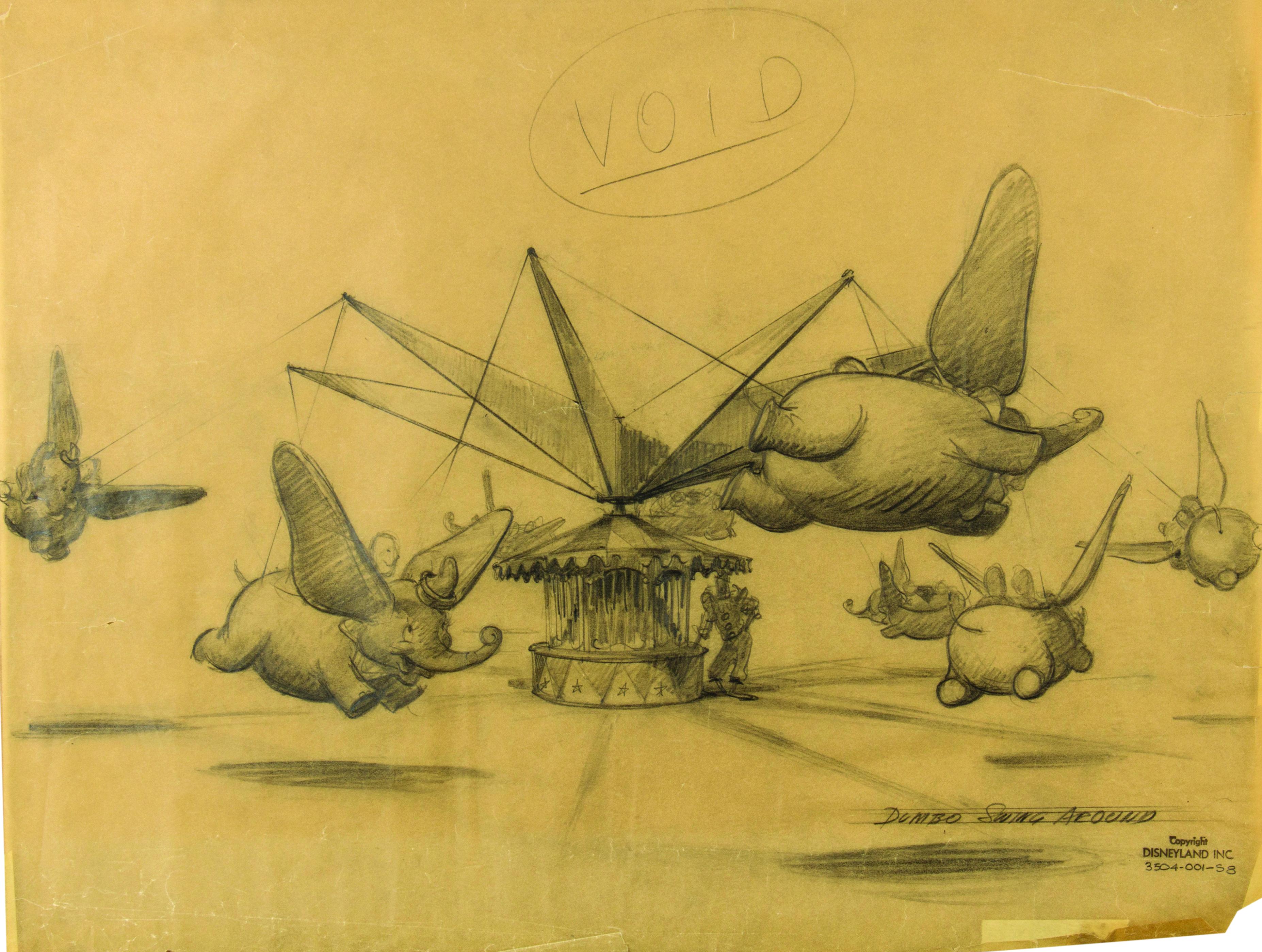 Dumbo Swing-Around concept drawing